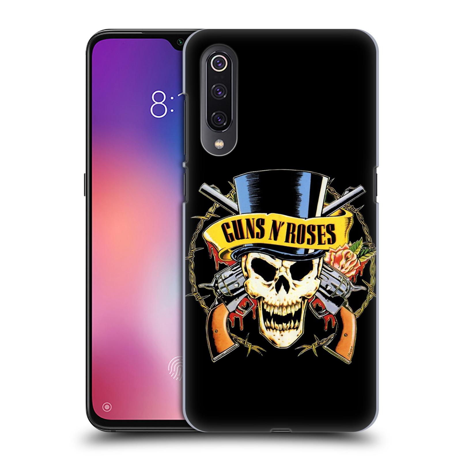 Plastové pouzdro na mobil Xiaomi Mi 9 - Head Case - Guns N' Roses - Lebka