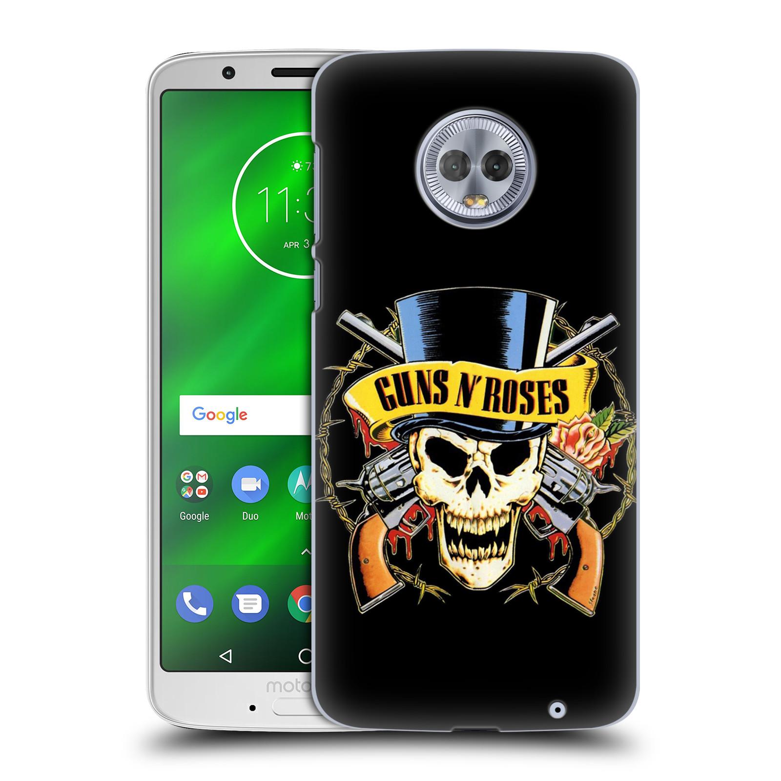 Plastové pouzdro na mobil Motorola Moto G6 Plus - Head Case - Guns N' Roses - Lebka