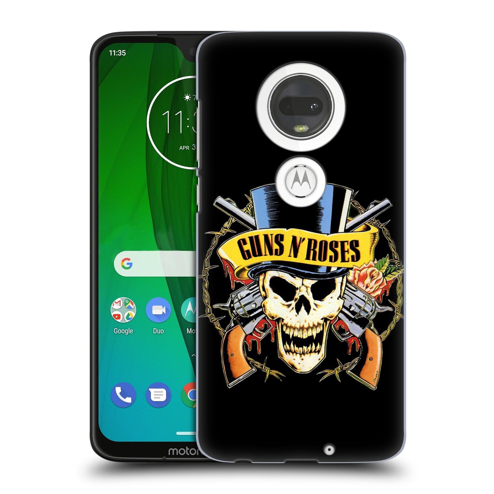 Plastové pouzdro na mobil Motorola Moto G7 - Head Case - Guns N' Roses - Lebka