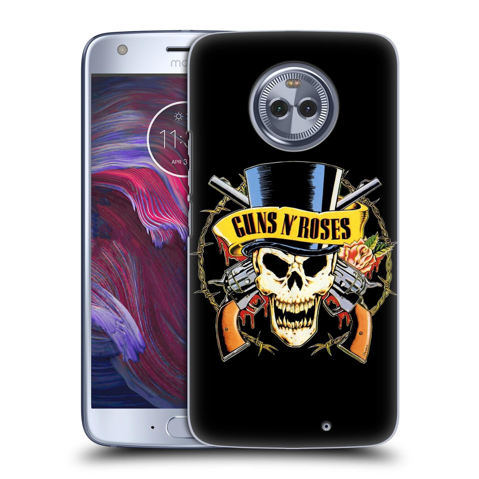 Plastové pouzdro na mobil Lenovo Moto X4 - Head Case - Guns N' Roses - Lebka