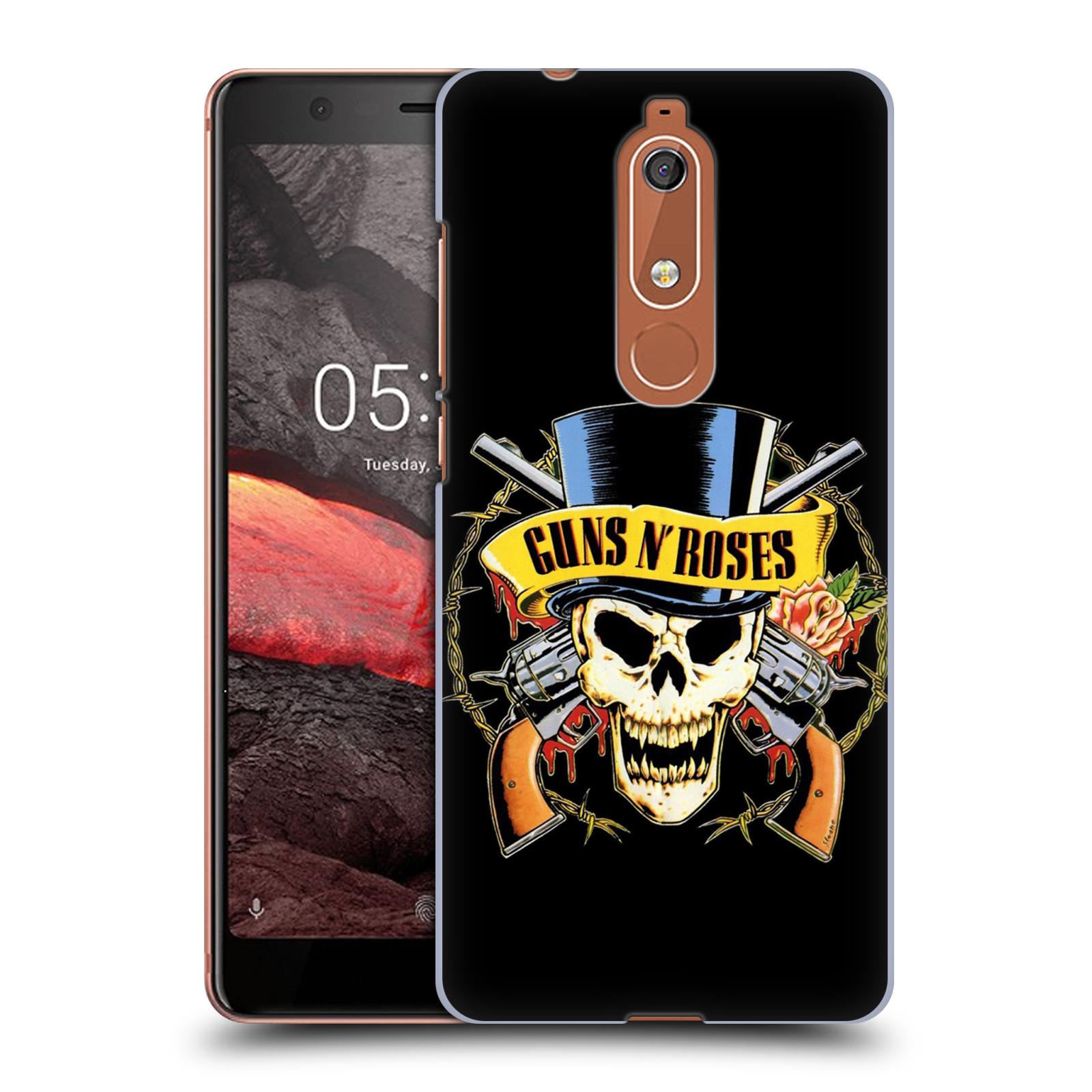 Plastové pouzdro na mobil Nokia 5.1 - Head Case - Guns N' Roses - Lebka