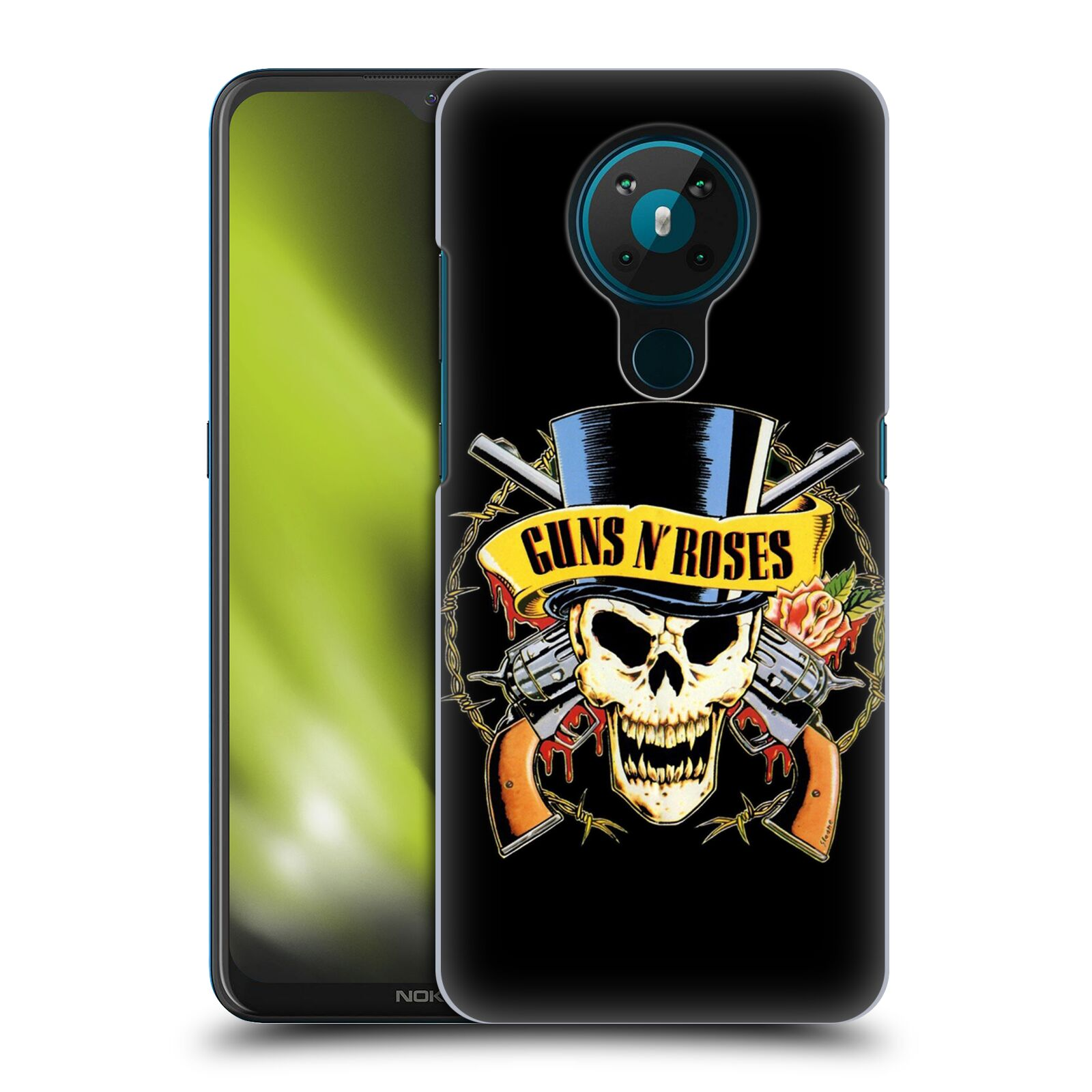 Plastové pouzdro na mobil Nokia 5.3 - Head Case - Guns N' Roses - Lebka