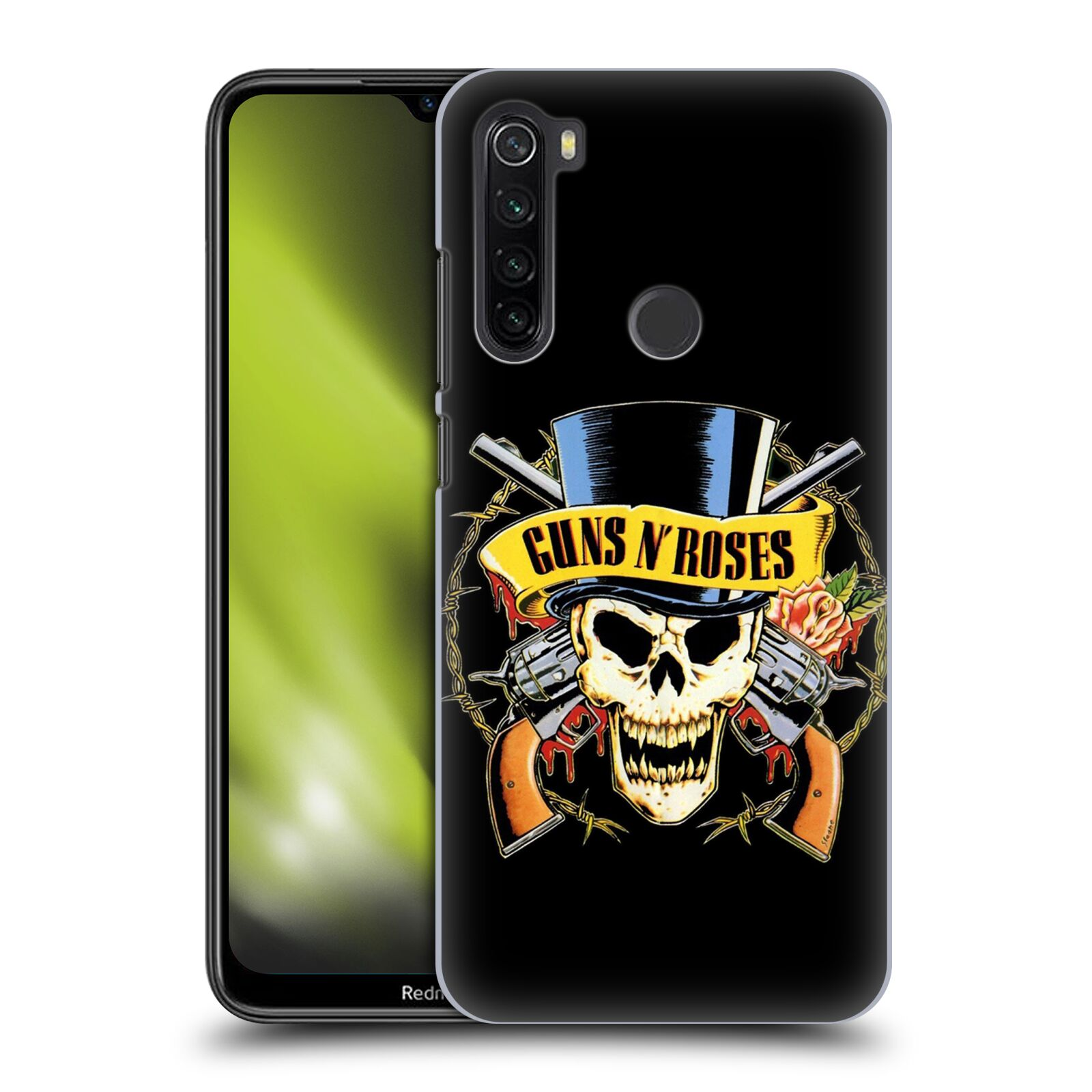 Plastové pouzdro na mobil Xiaomi Redmi Note 8T - Head Case - Guns N' Roses - Lebka