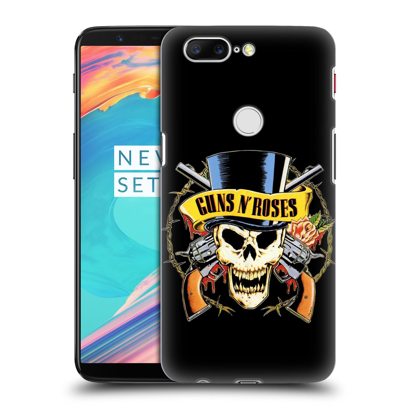 Plastové pouzdro na mobil OnePlus 5T - Head Case - Guns N' Roses - Lebka