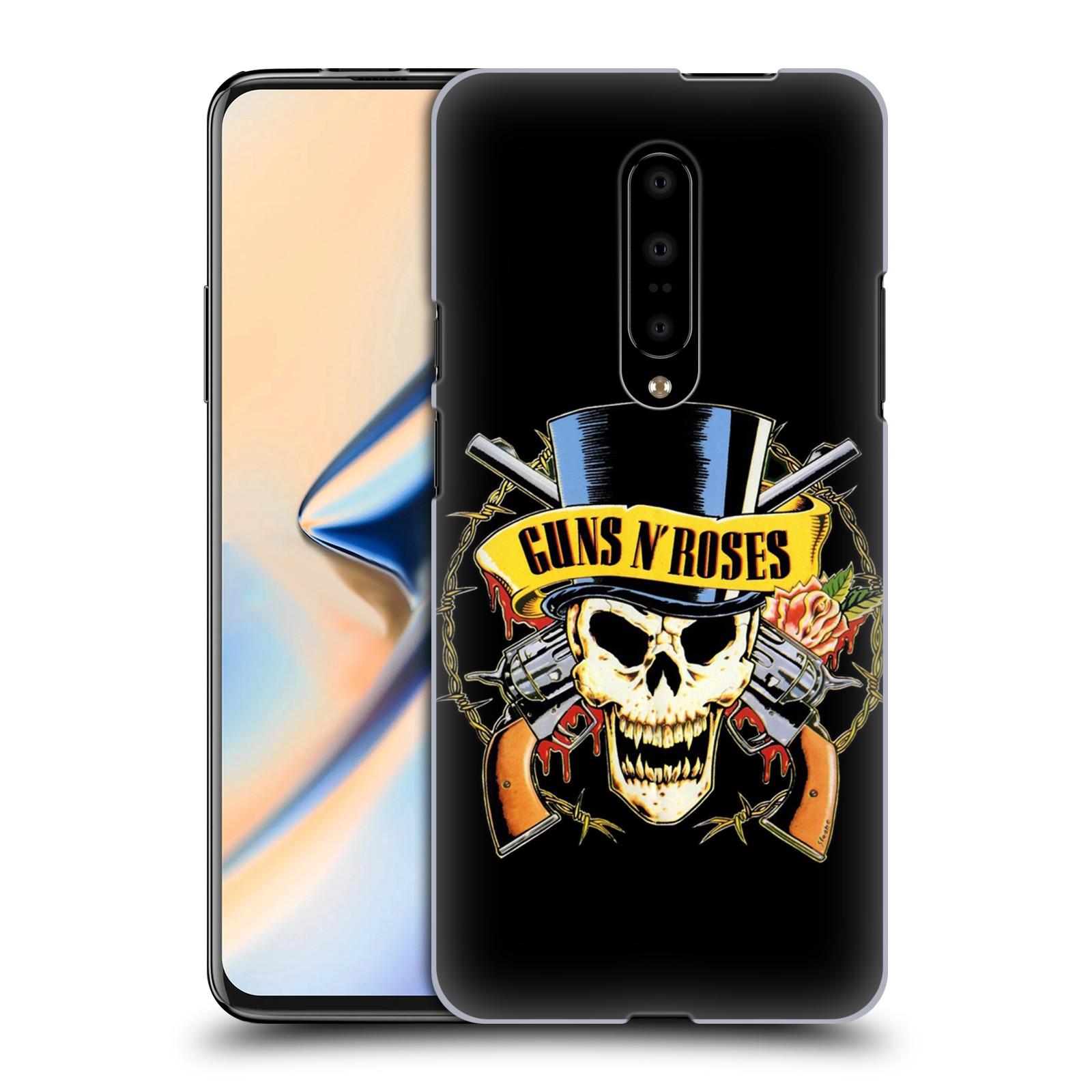 Plastové pouzdro na mobil OnePlus 7 - Head Case - Guns N' Roses - Lebka