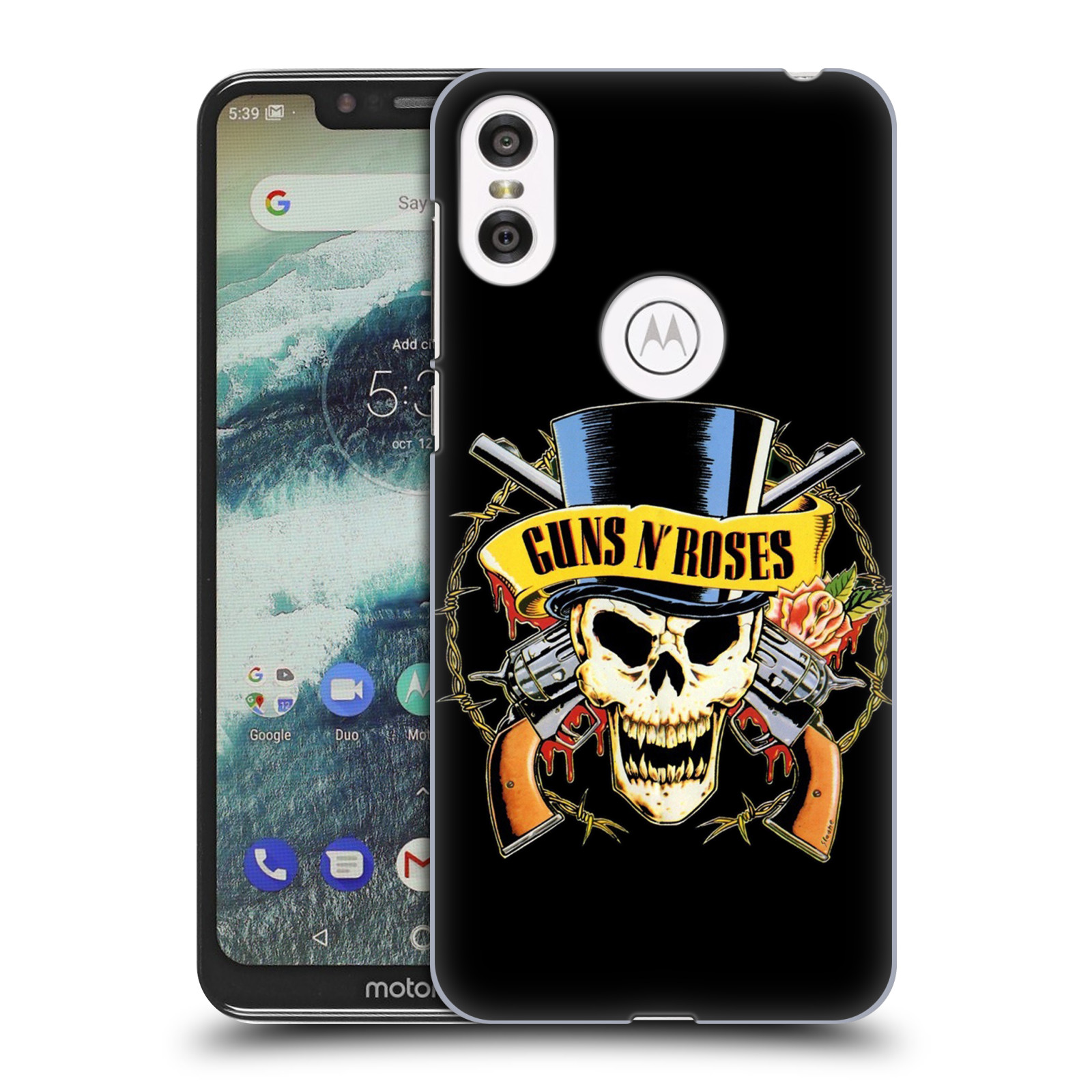 Plastové pouzdro na mobil Motorola One - Head Case - Guns N' Roses - Lebka