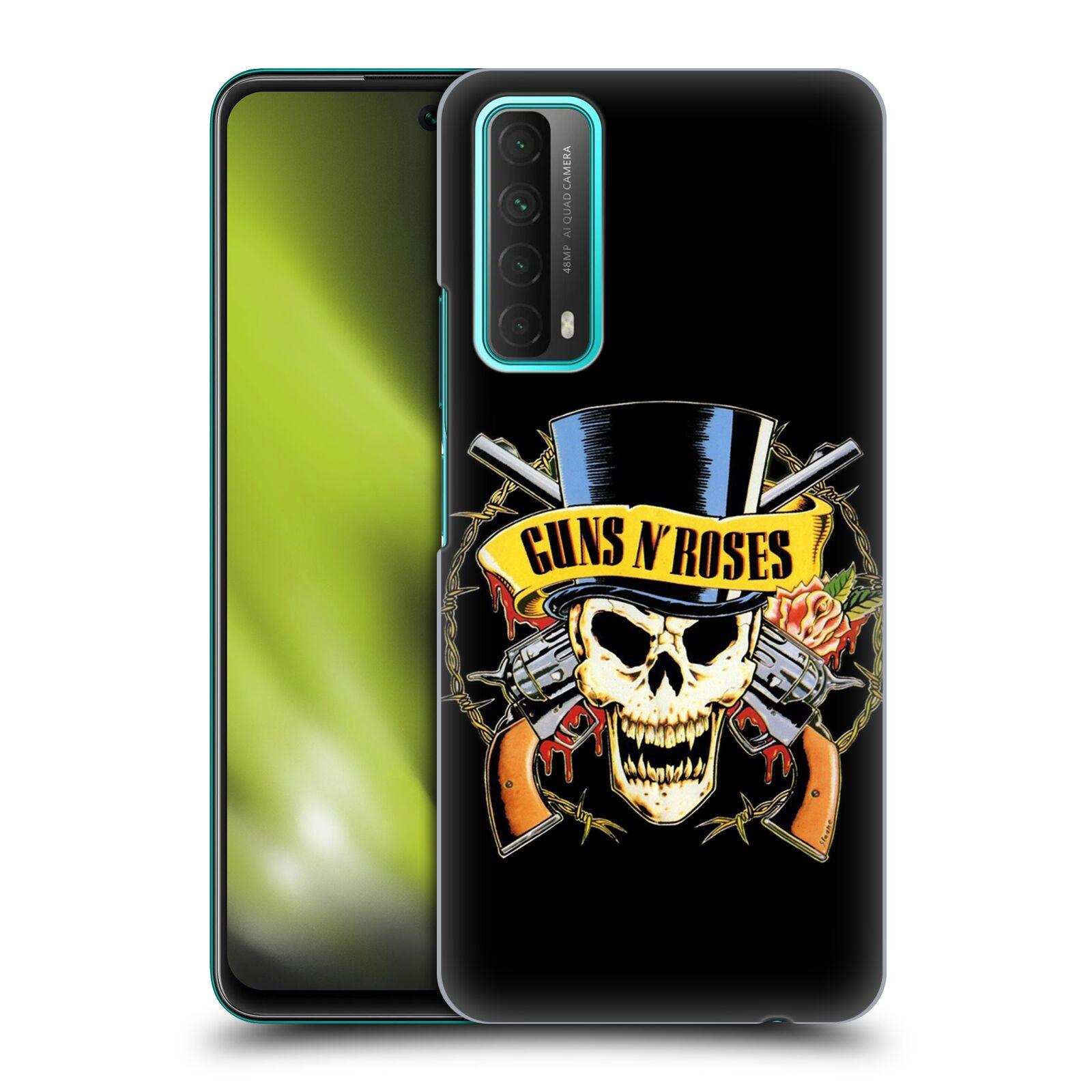 Plastové pouzdro na mobil Huawei P Smart (2021) - Head Case - Guns N' Roses - Lebka