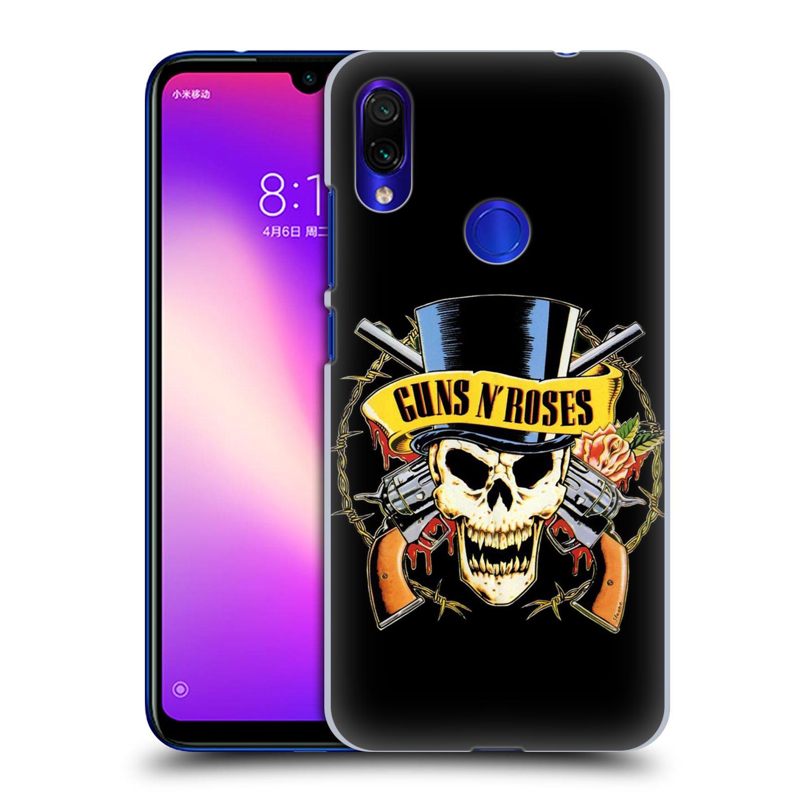 Plastové pouzdro na mobil Xiaomi Redmi Note 7 - Head Case - Guns N' Roses - Lebka