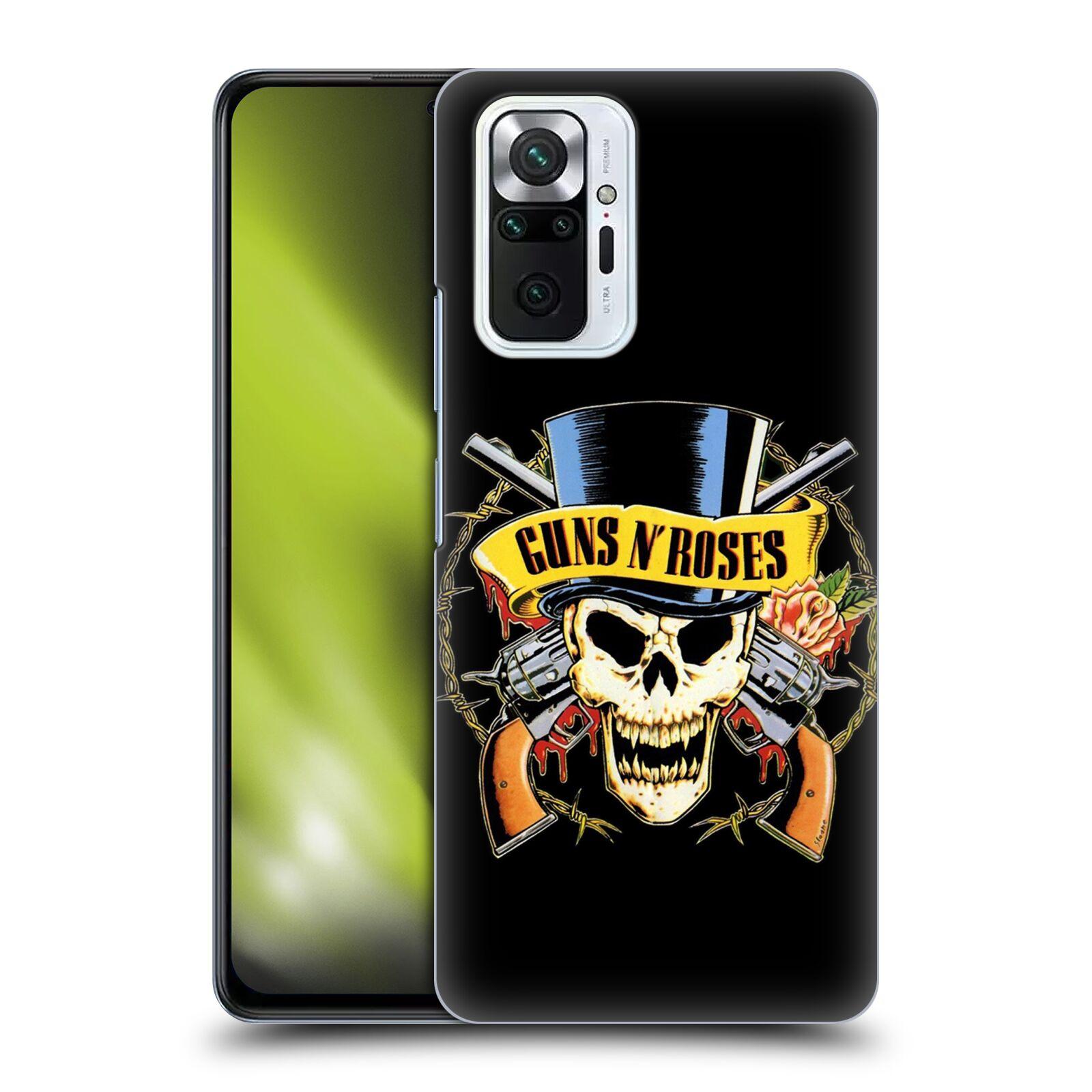 Plastové pouzdro na mobil Xiaomi Redmi Note 10 Pro - Head Case - Guns N' Roses - Lebka