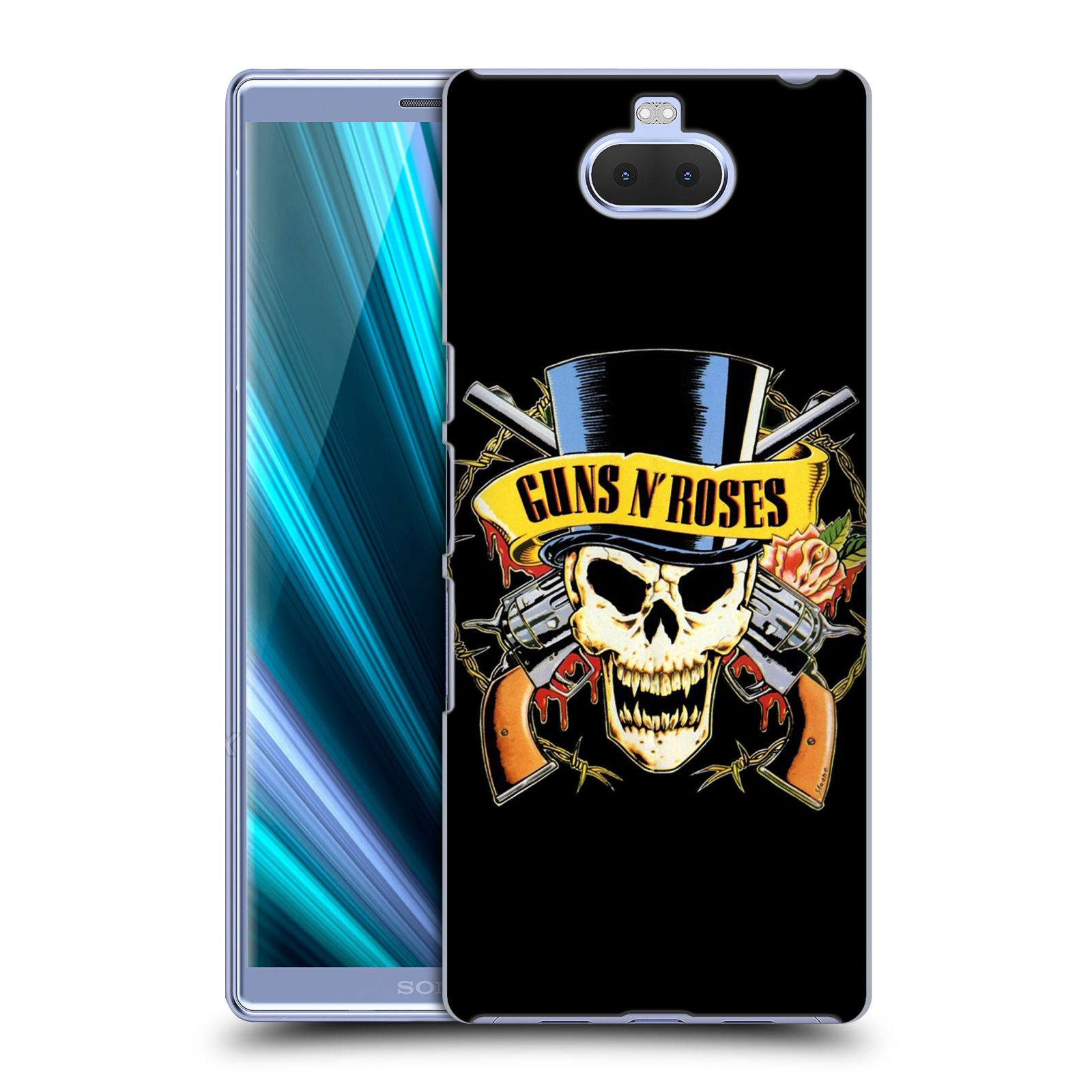 Plastové pouzdro na mobil Sony Xperia 10 Plus - Head Case - Guns N' Roses - Lebka