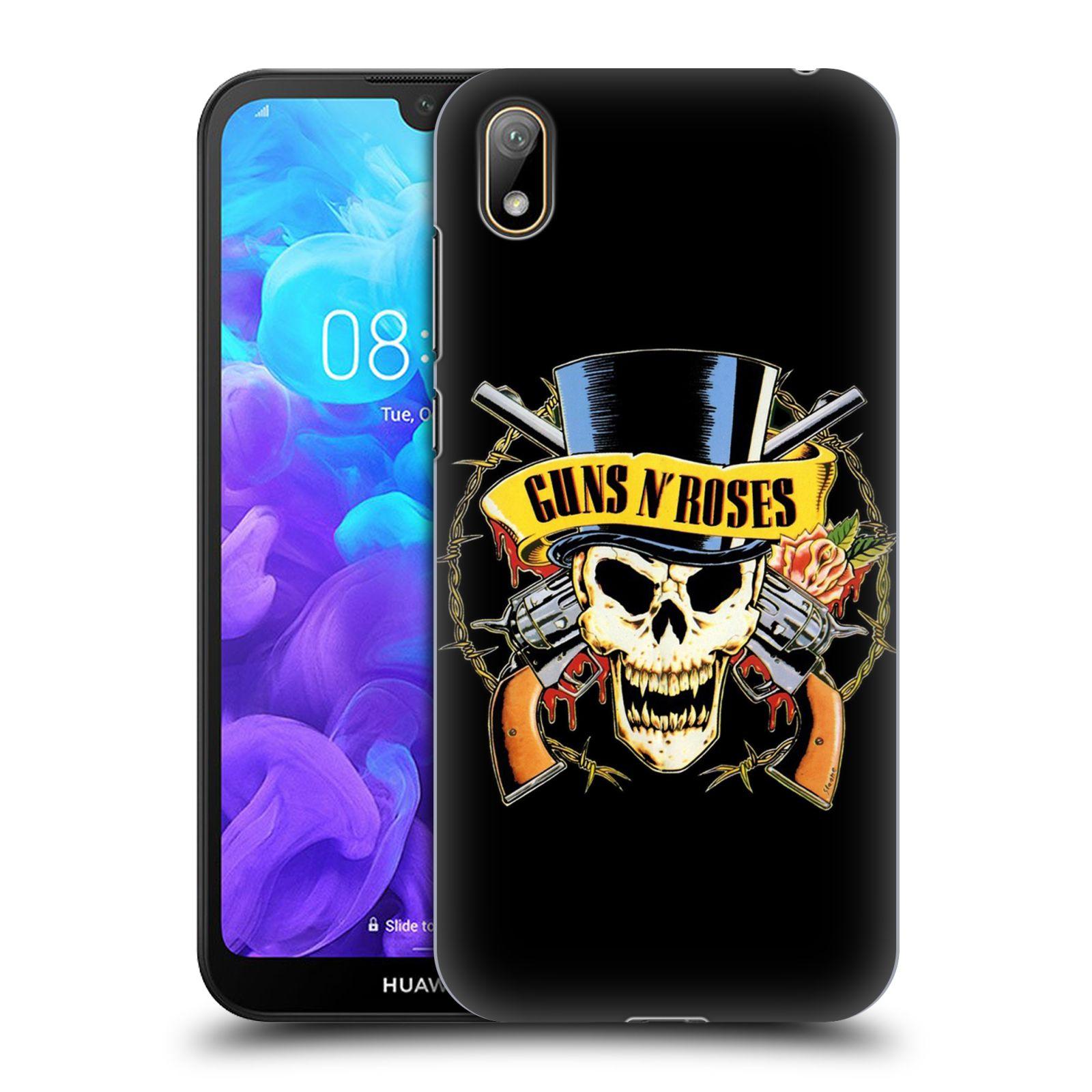 Plastové pouzdro na mobil Honor 8S - Head Case - Guns N' Roses - Lebka