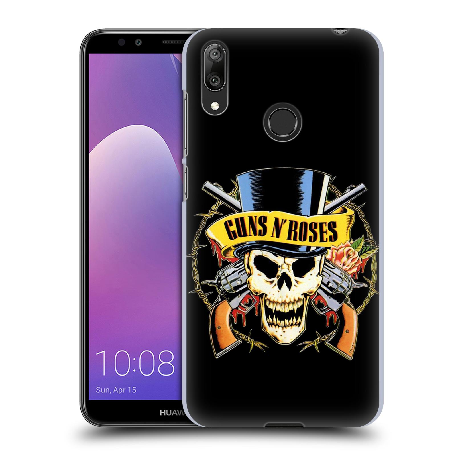 Plastové pouzdro na mobil Huawei Y7 (2019) - Head Case - Guns N' Roses - Lebka