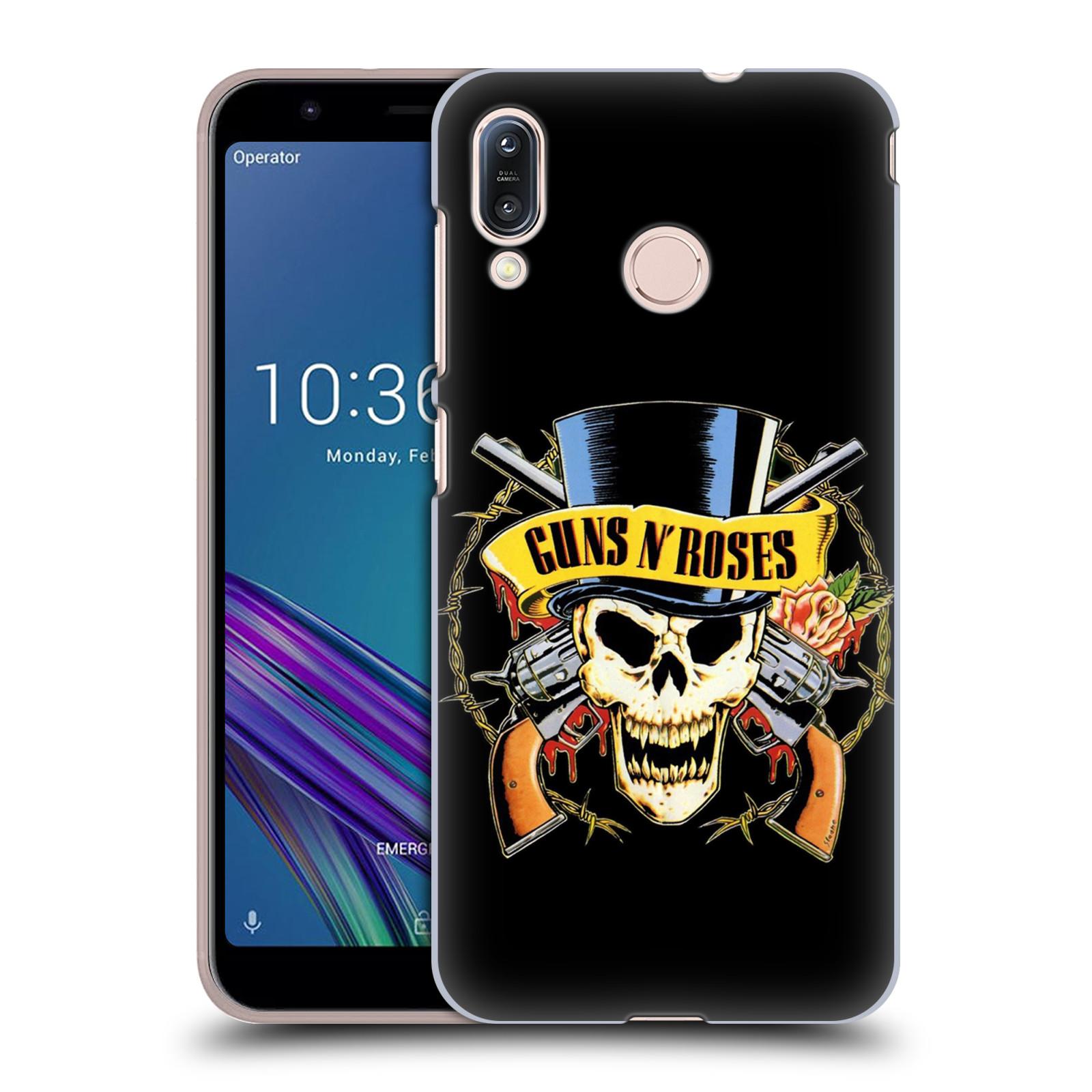 Plastové pouzdro na mobil Asus Zenfone Max M1 ZB555KL - Head Case - Guns N' Roses - Lebka