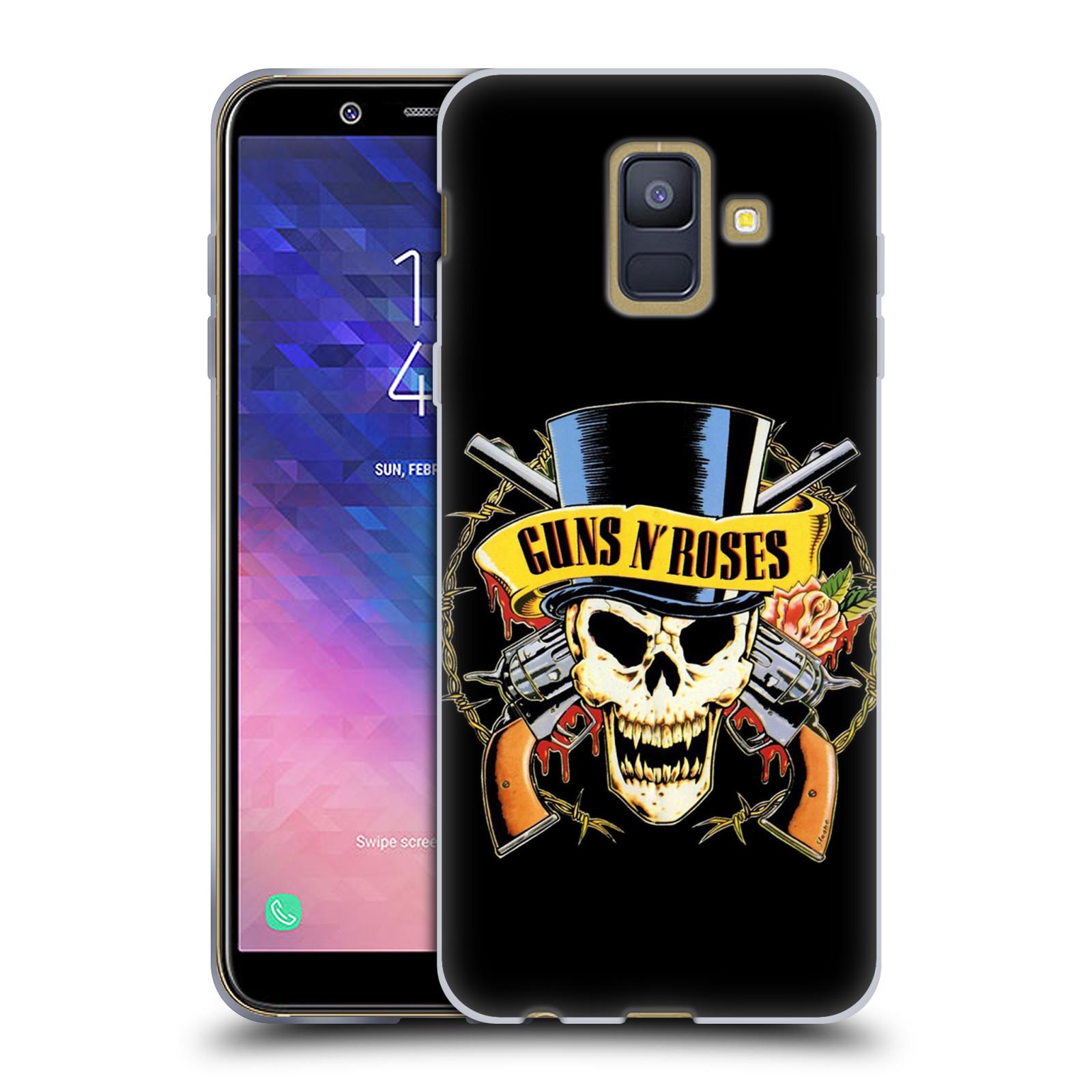 Silikonové pouzdro na mobil Samsung Galaxy A6 (2018) - Head Case - Guns N' Roses - Lebka