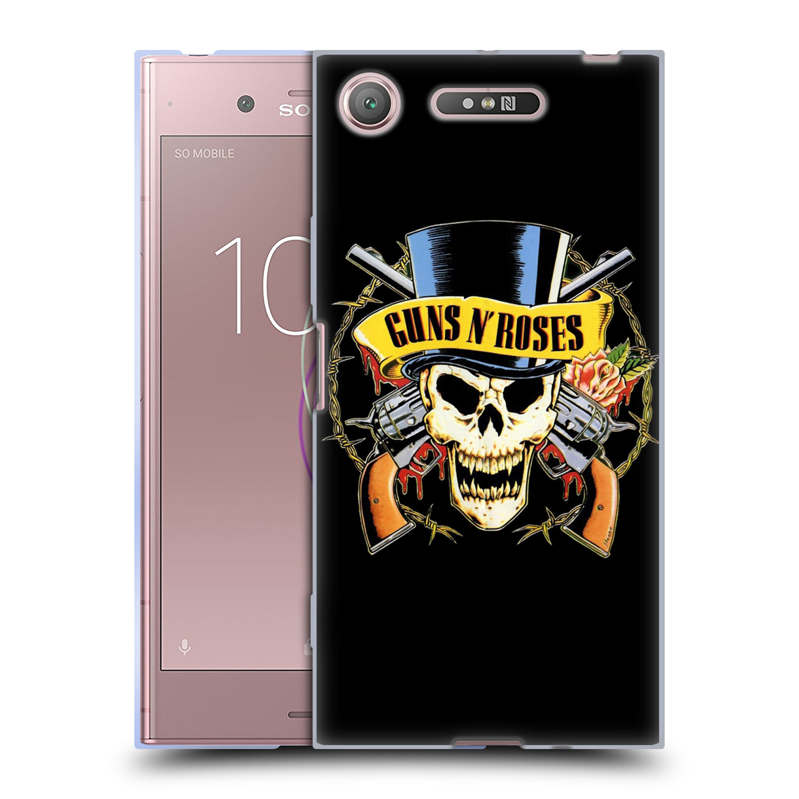 Silikonové pouzdro na mobil Sony Xperia XZ1 - Head Case - Guns N' Roses - Lebka