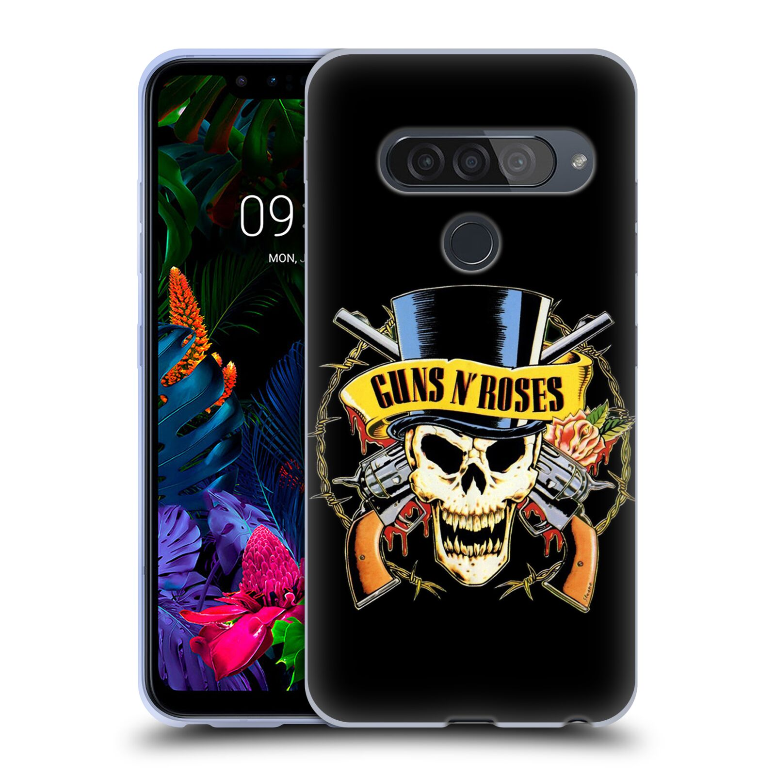 Silikonové pouzdro na mobil LG G8s ThinQ - Head Case - Guns N' Roses - Lebka