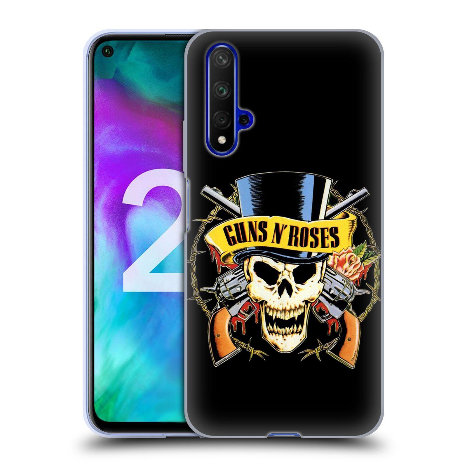 Silikonové pouzdro na mobil Honor 20 - Head Case - Guns N' Roses - Lebka