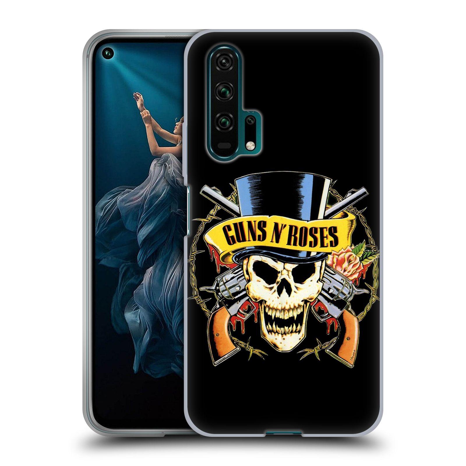 Silikonové pouzdro na mobil Honor 20 Pro - Head Case - Guns N' Roses - Lebka