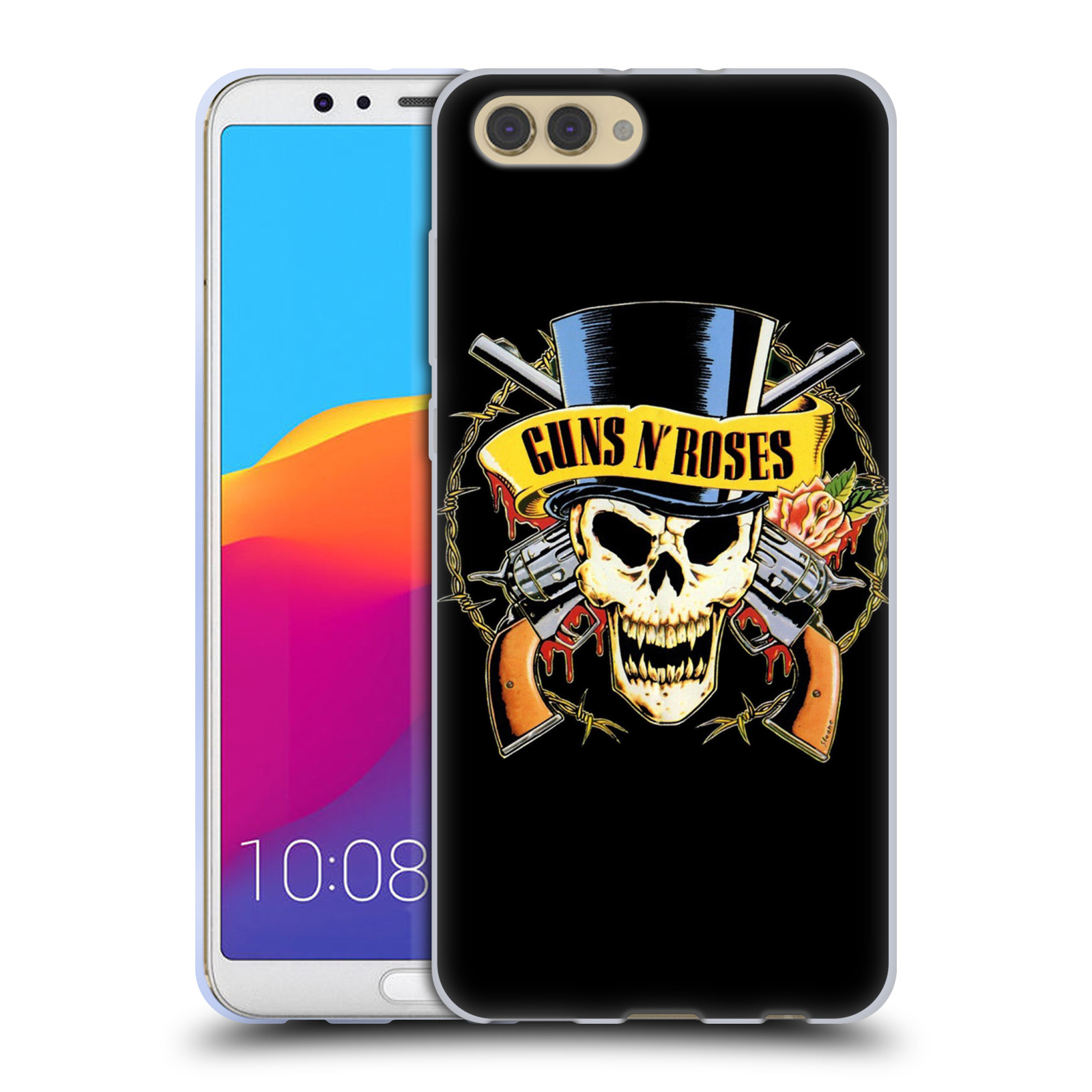Silikonové pouzdro na mobil Honor View 10 - Head Case - Guns N' Roses - Lebka