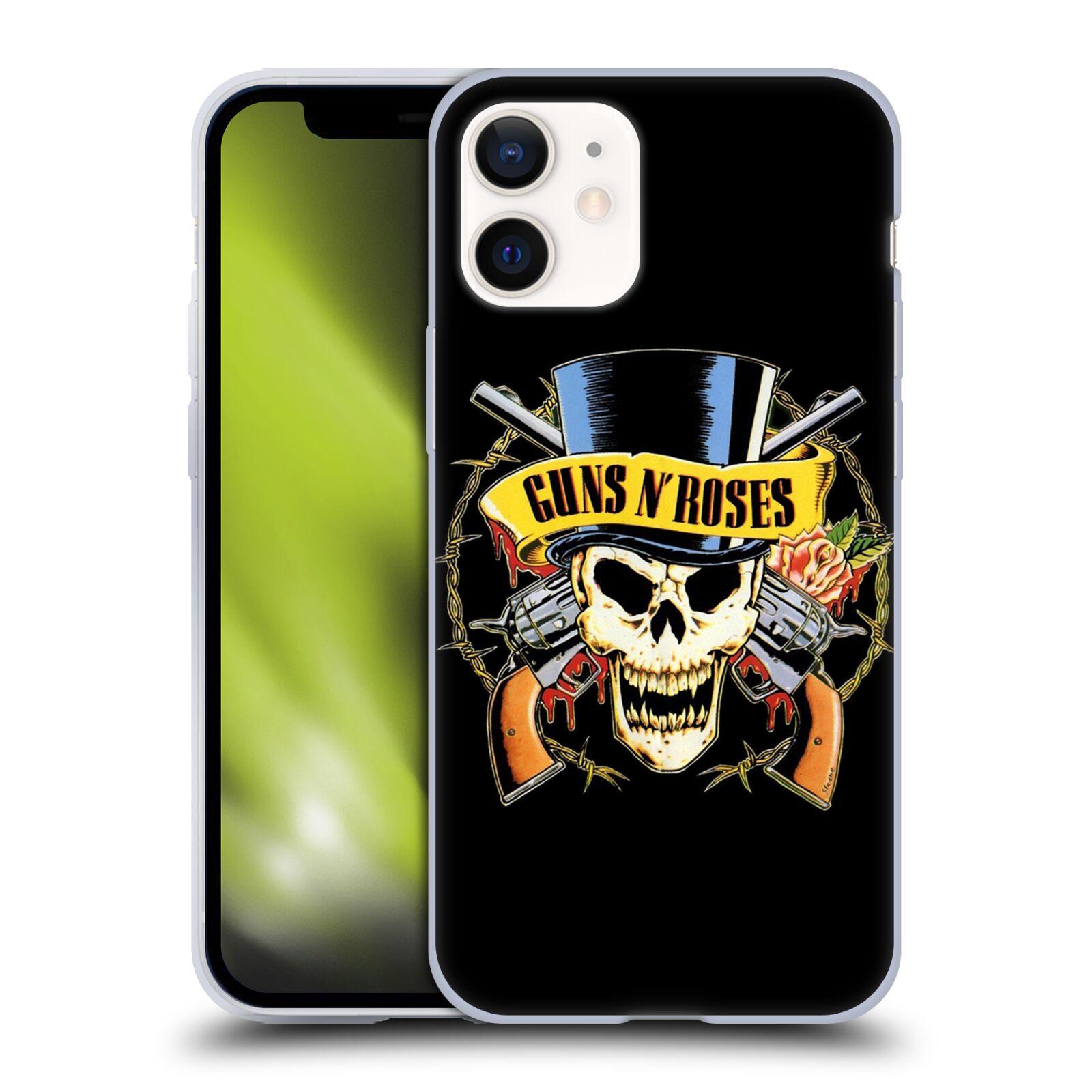 Silikonové pouzdro na mobil Apple iPhone 12 Mini - Head Case - Guns N' Roses - Lebka