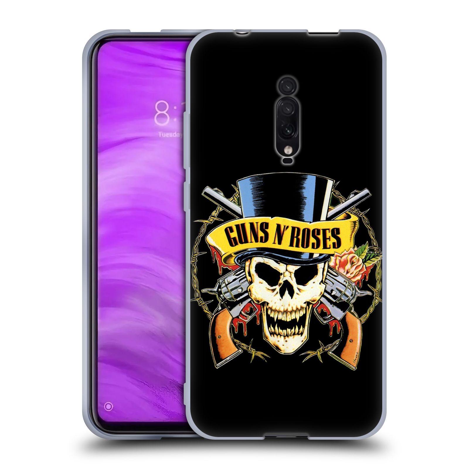Silikonové pouzdro na mobil Xiaomi Mi 9T - Head Case - Guns N' Roses - Lebka