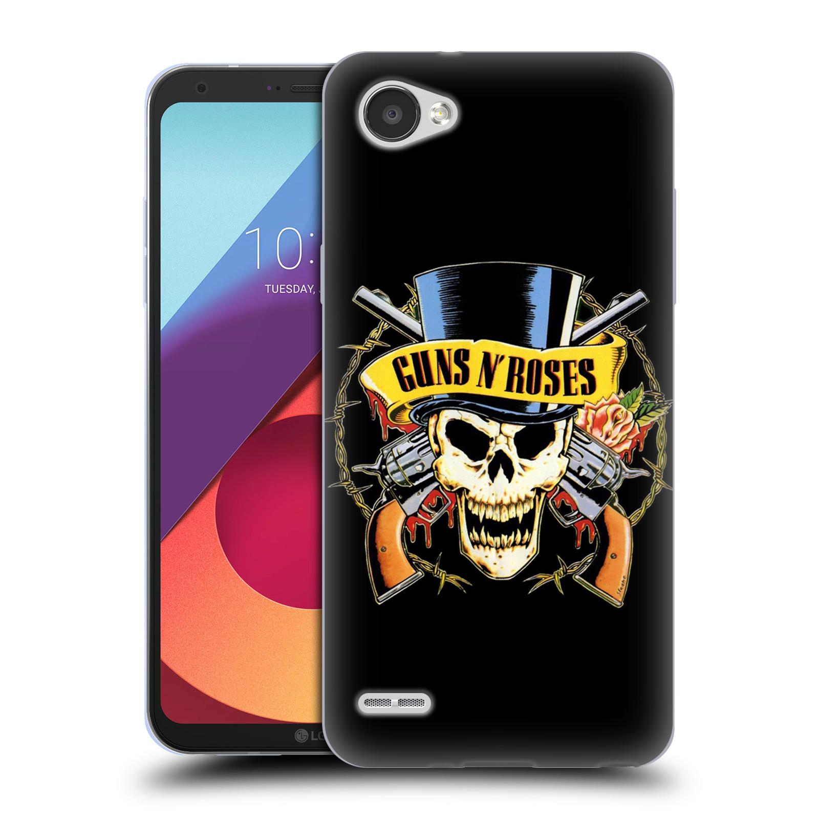 Silikonové pouzdro na mobil LG Q6 - Head Case - Guns N' Roses - Lebka