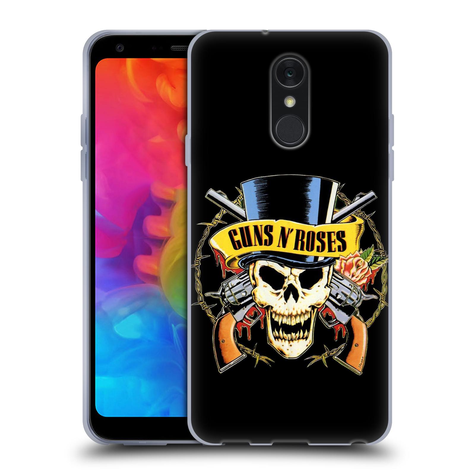 Silikonové pouzdro na mobil LG Q7 - Head Case - Guns N' Roses - Lebka