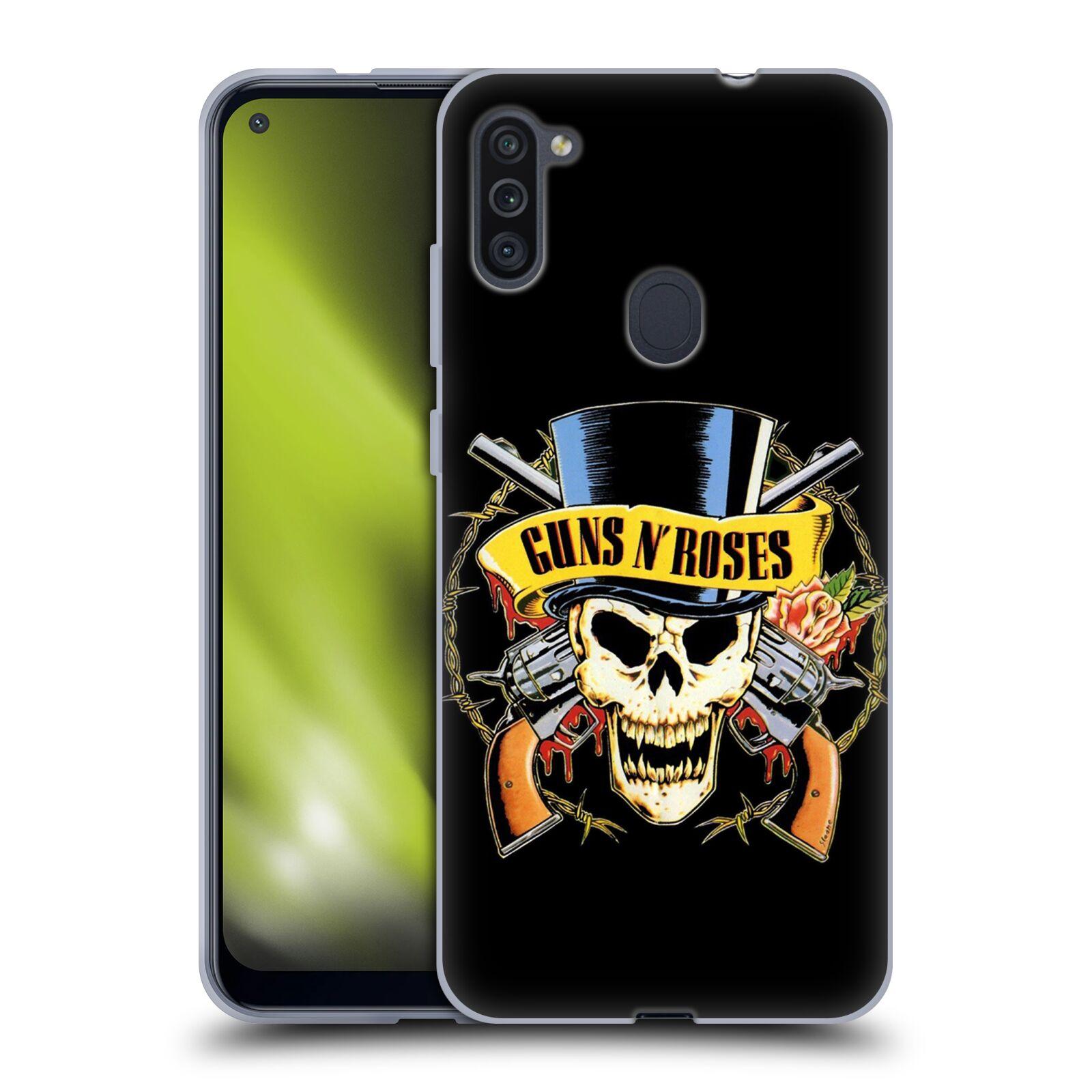 Silikonové pouzdro na mobil Samsung Galaxy M11 - Head Case - Guns N' Roses - Lebka
