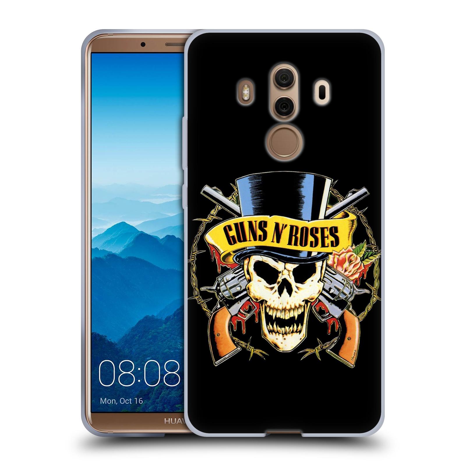 Silikonové pouzdro na mobil Huawei Mate 10 Pro - Head Case - Guns N' Roses - Lebka
