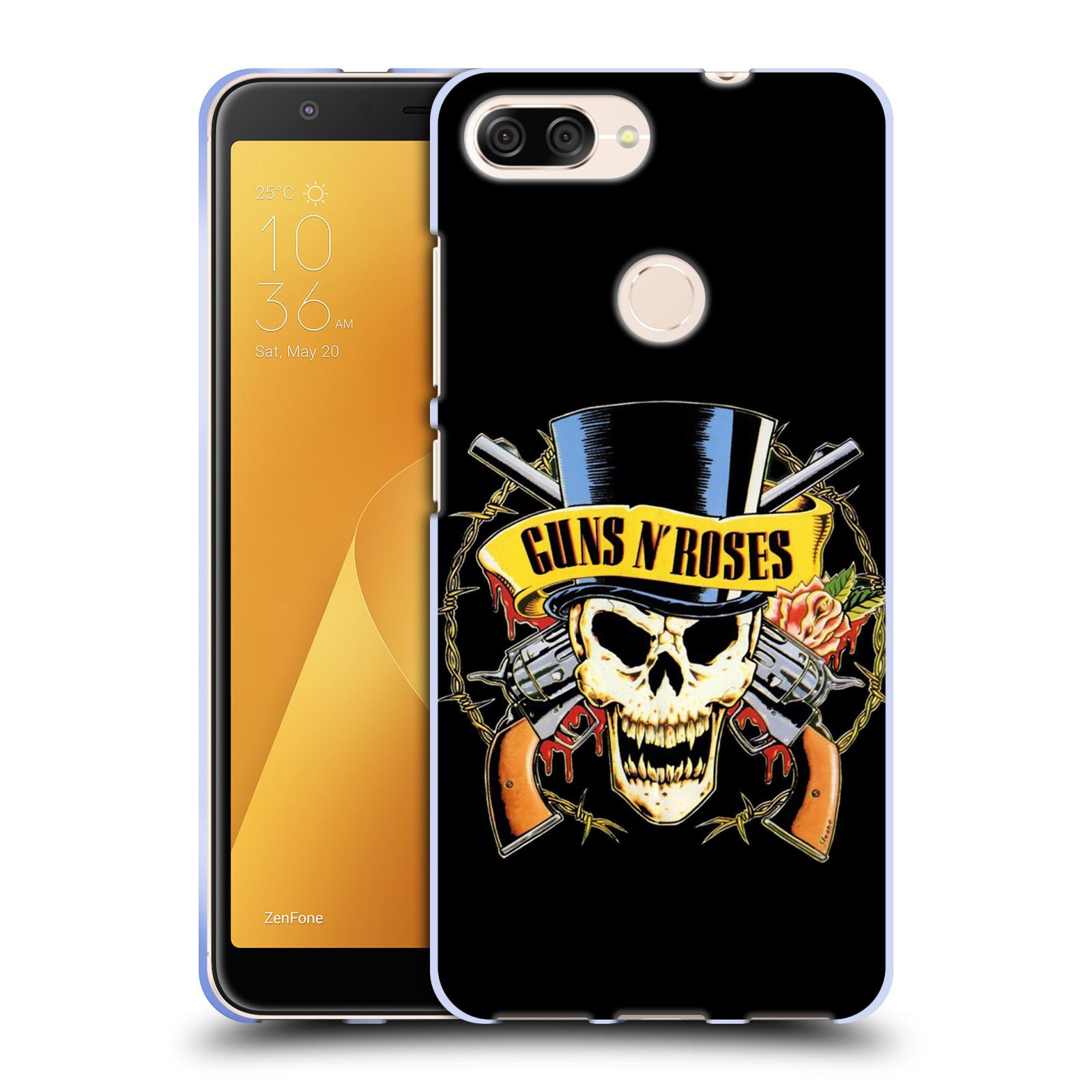 Silikonové pouzdro na mobil Asus ZenFone Max Plus (M1) - Head Case - Guns N' Roses - Lebka