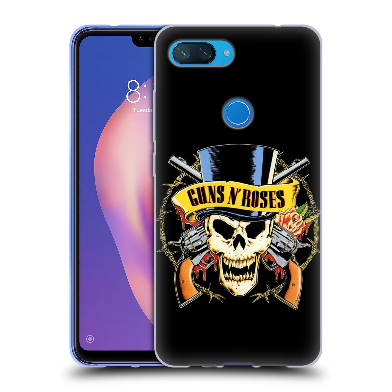 Silikonové pouzdro na mobil Xiaomi Mi 8 Lite - Head Case - Guns N' Roses - Lebka