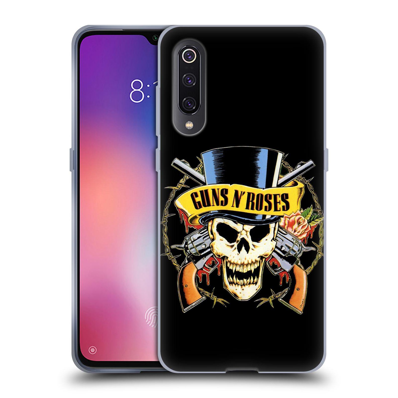 Silikonové pouzdro na mobil Xiaomi Mi 9 - Head Case - Guns N' Roses - Lebka