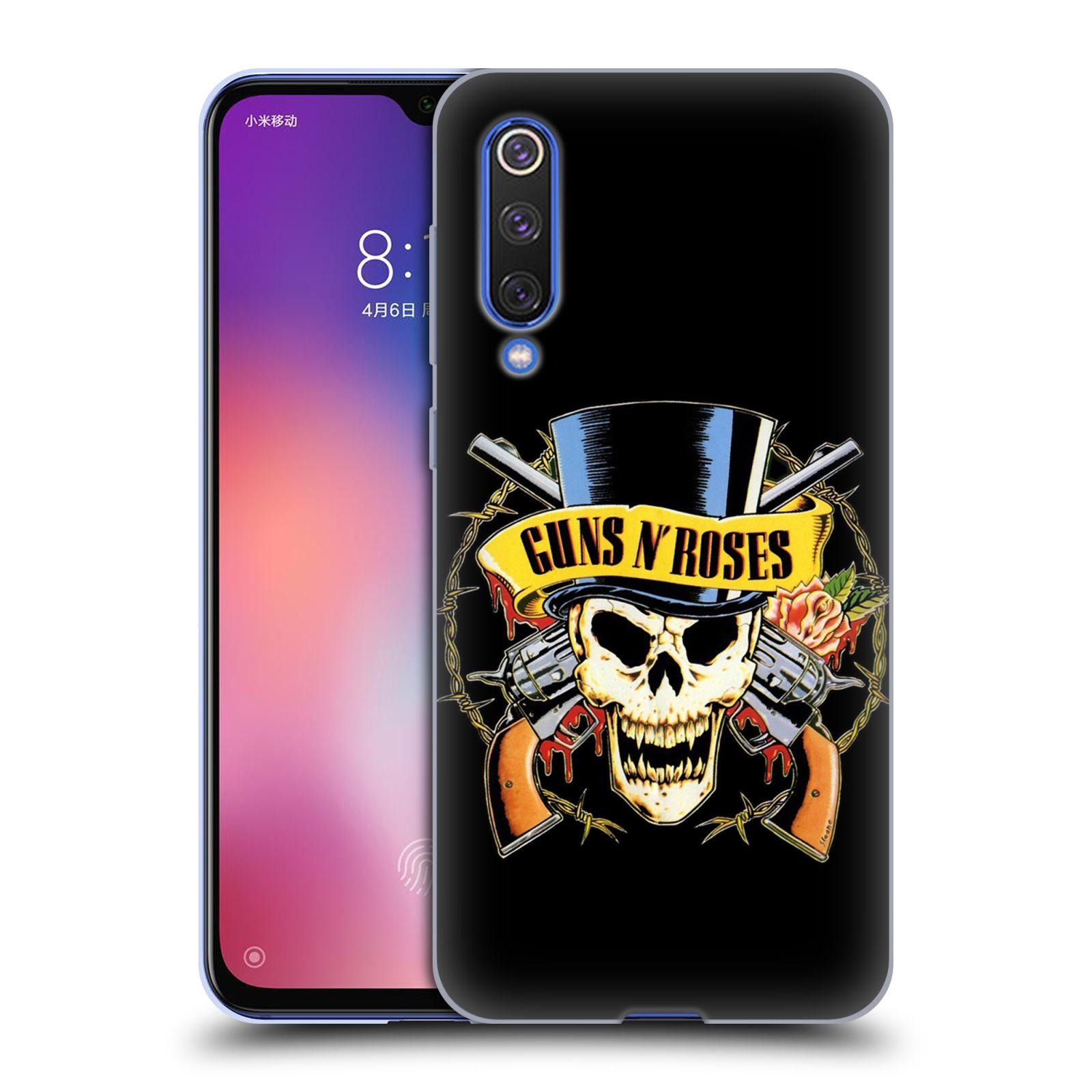 Silikonové pouzdro na mobil Xiaomi Mi 9 SE - Head Case - Guns N' Roses - Lebka