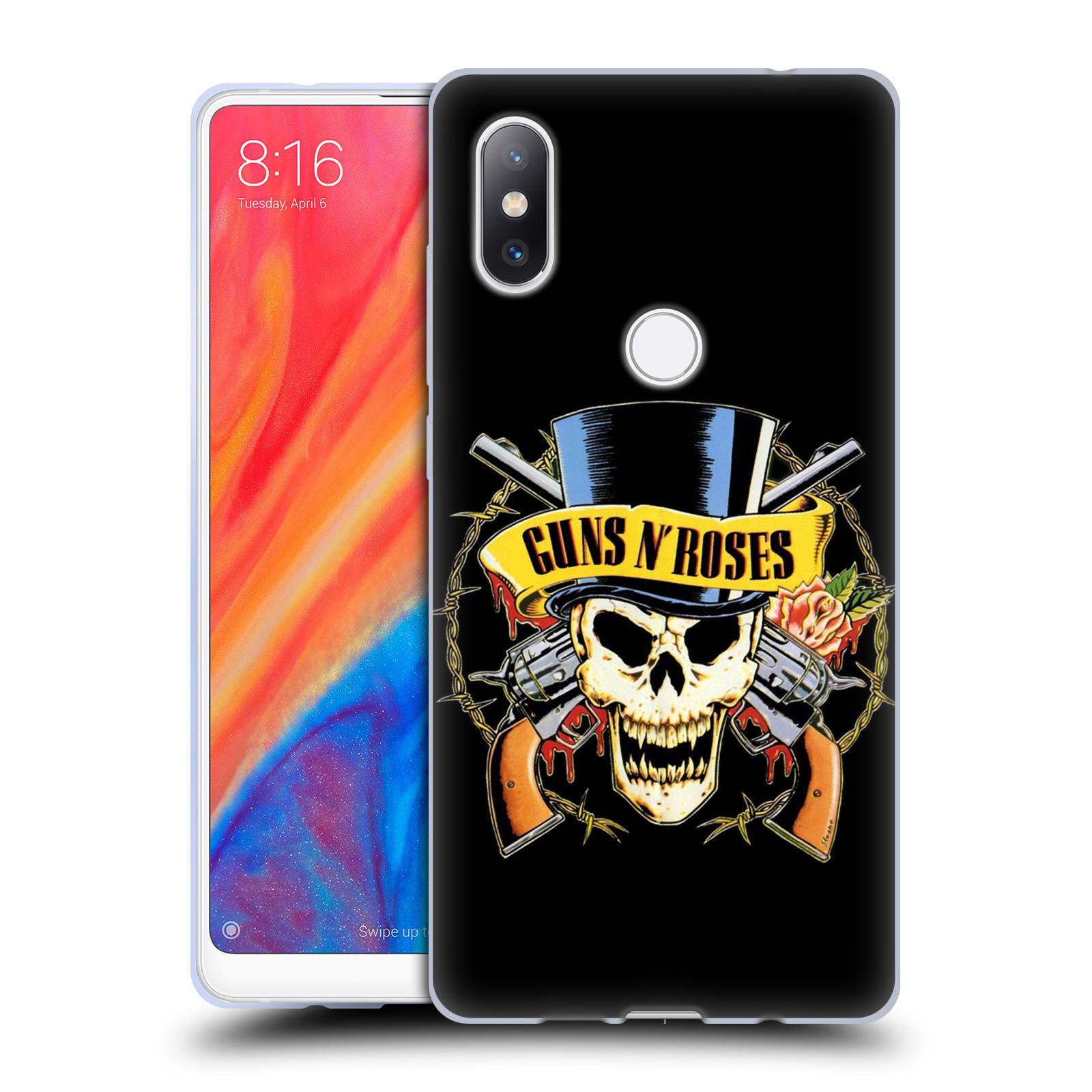 Silikonové pouzdro na mobil Xiaomi Mi Mix 2S - Head Case - Guns N' Roses - Lebka