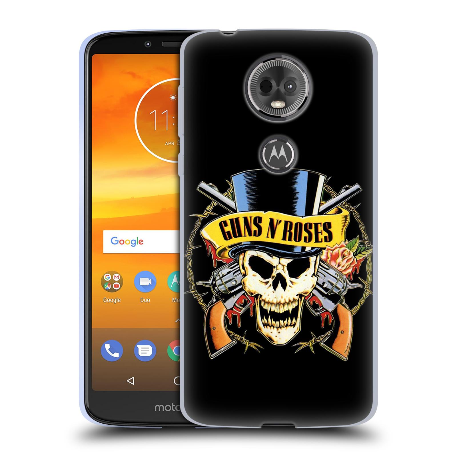 Silikonové pouzdro na mobil Motorola Moto E5 Plus - Head Case - Guns N' Roses - Lebka