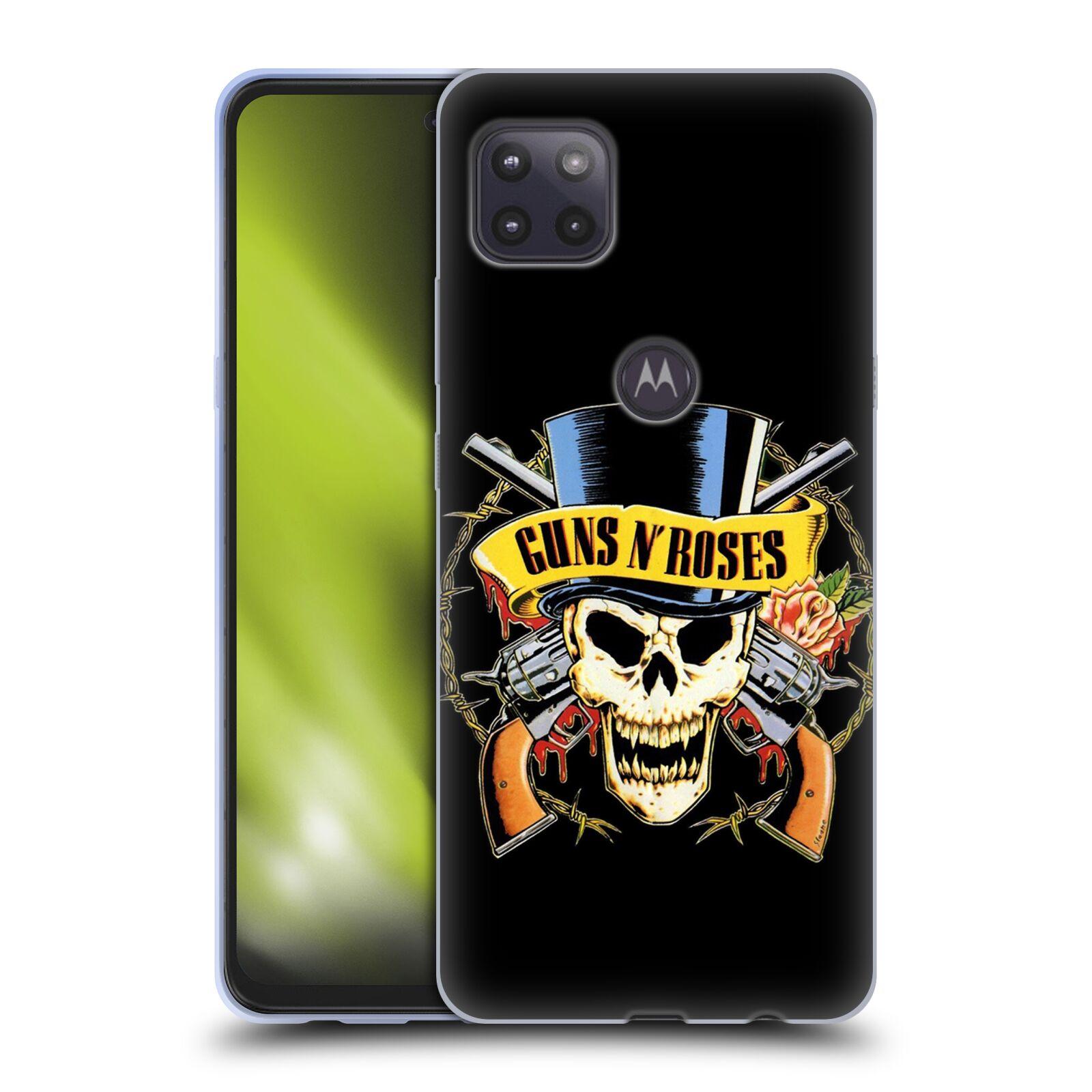 Silikonové pouzdro na mobil Motorola Moto G 5G - Head Case - Guns N' Roses - Lebka