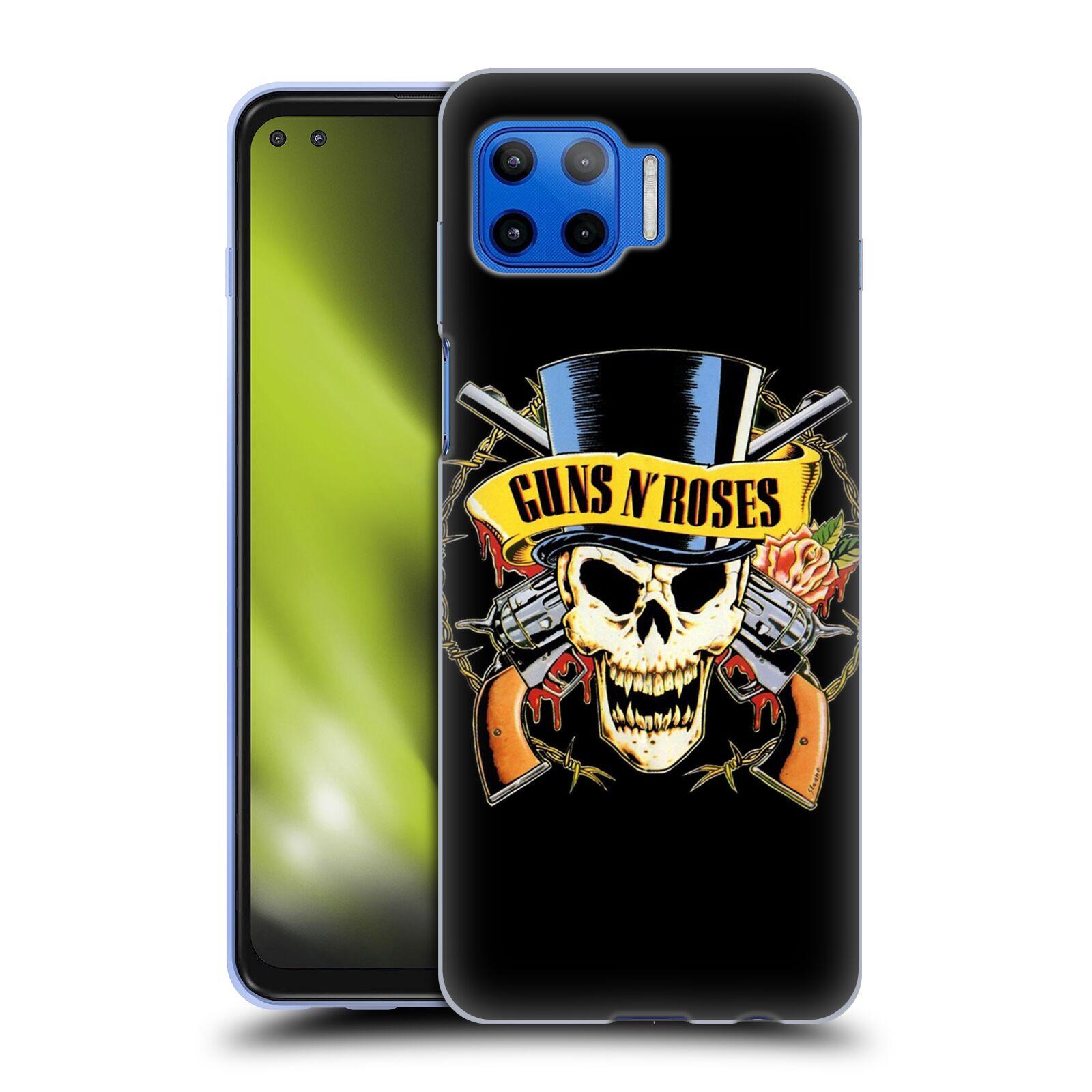 Silikonové pouzdro na mobil Motorola Moto G 5G Plus - Head Case - Guns N' Roses - Lebka