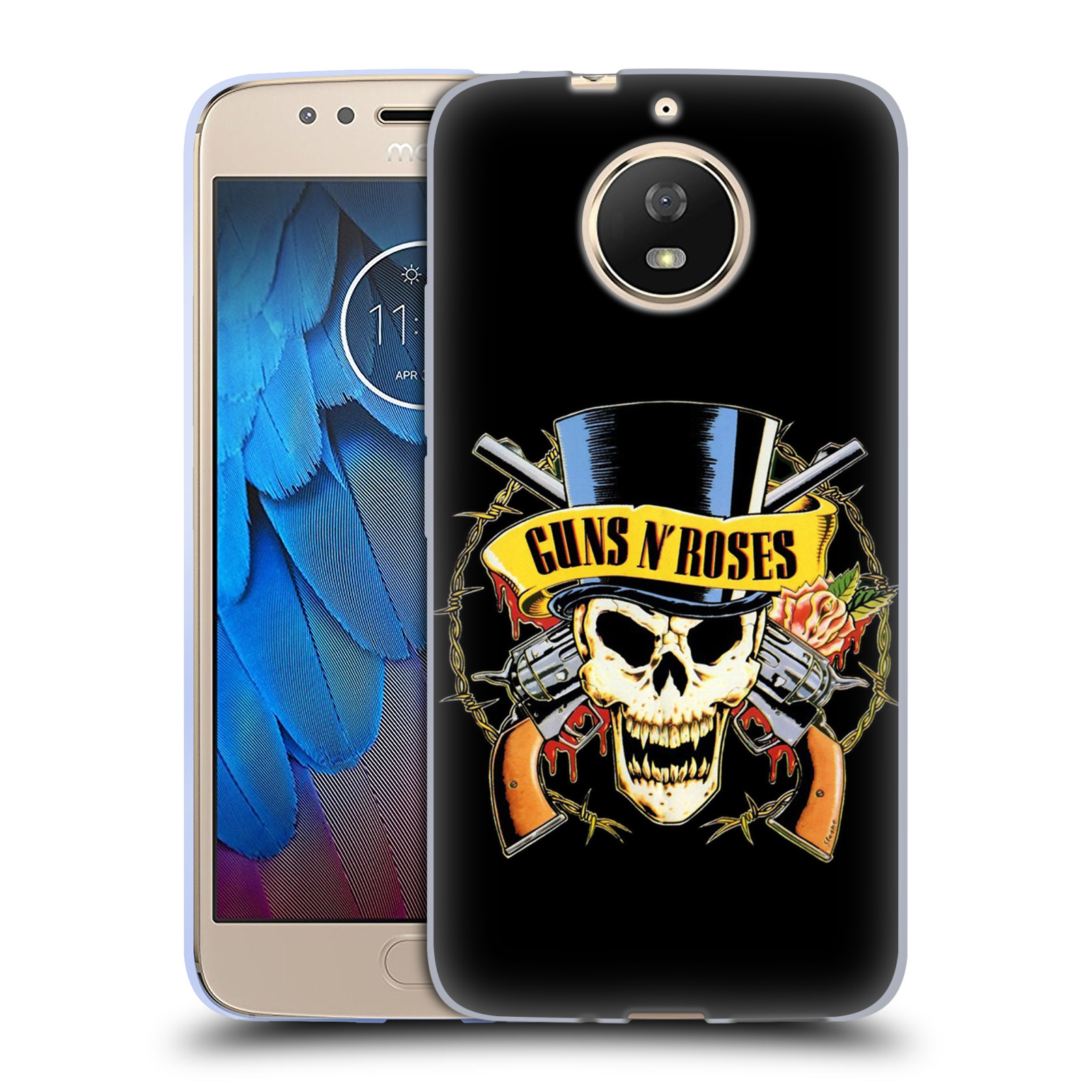 Silikonové pouzdro na mobil Lenovo Moto G5s - Head Case - Guns N' Roses - Lebka