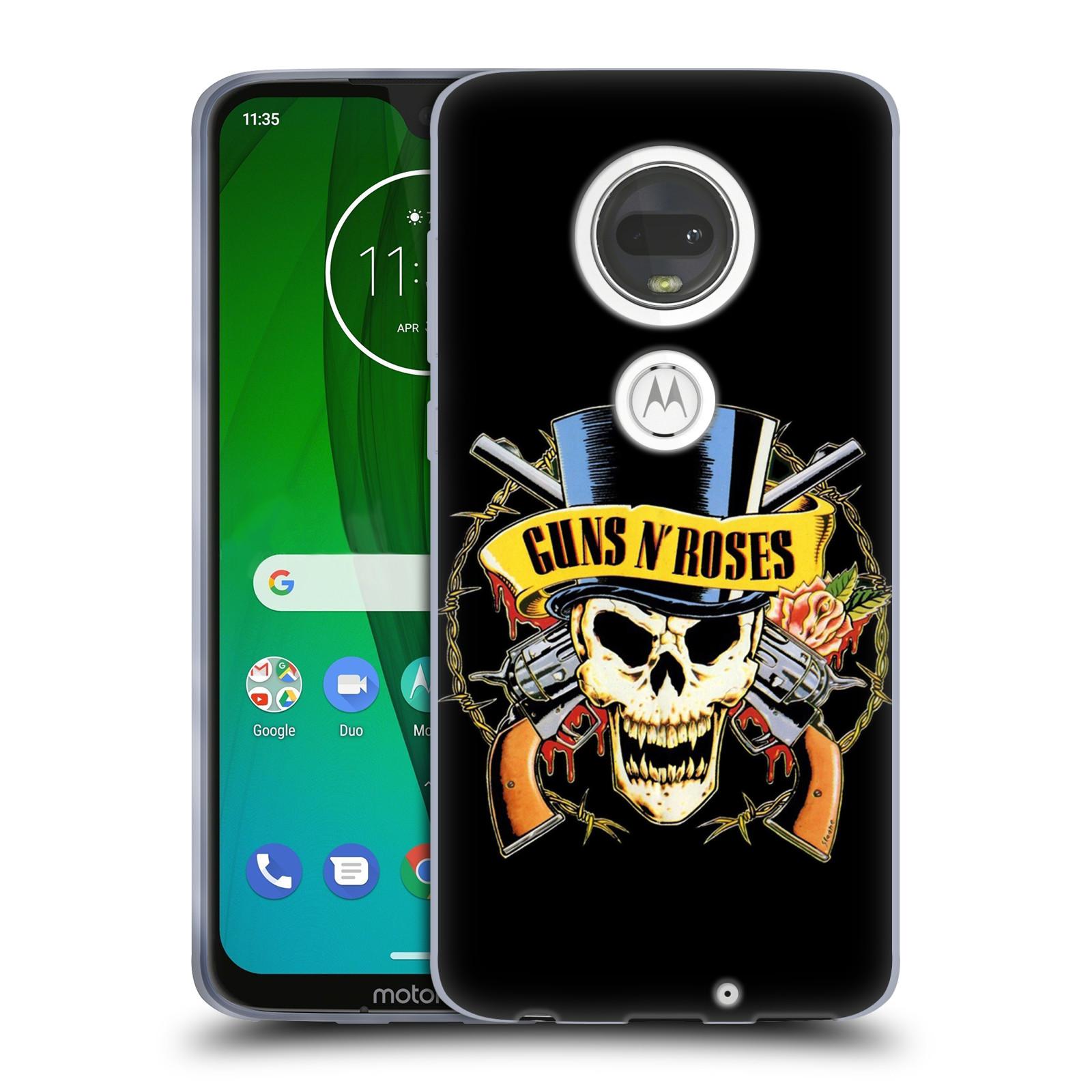 Silikonové pouzdro na mobil Motorola Moto G7 - Head Case - Guns N' Roses - Lebka