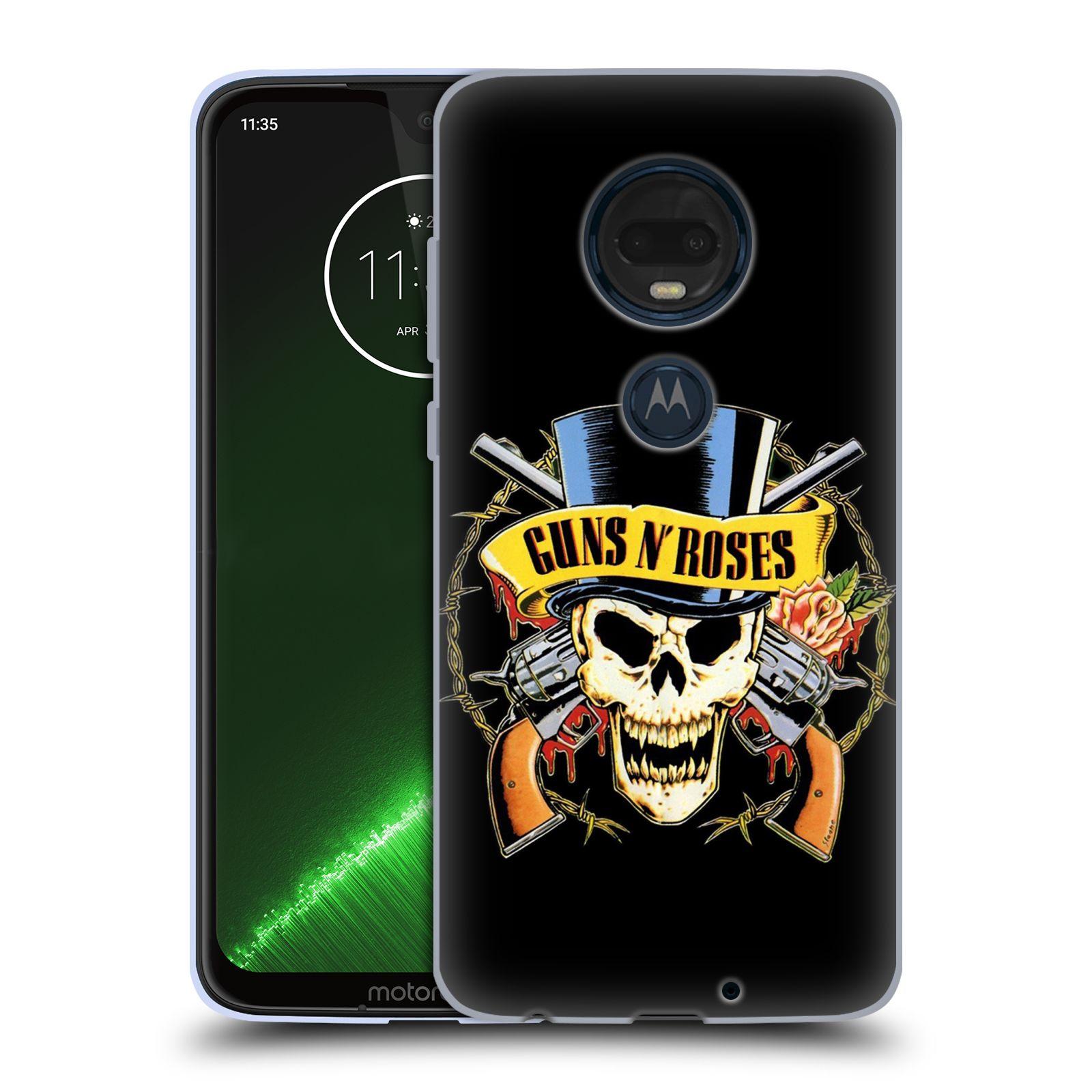 Silikonové pouzdro na mobil Motorola Moto G7 Plus - Head Case - Guns N' Roses - Lebka