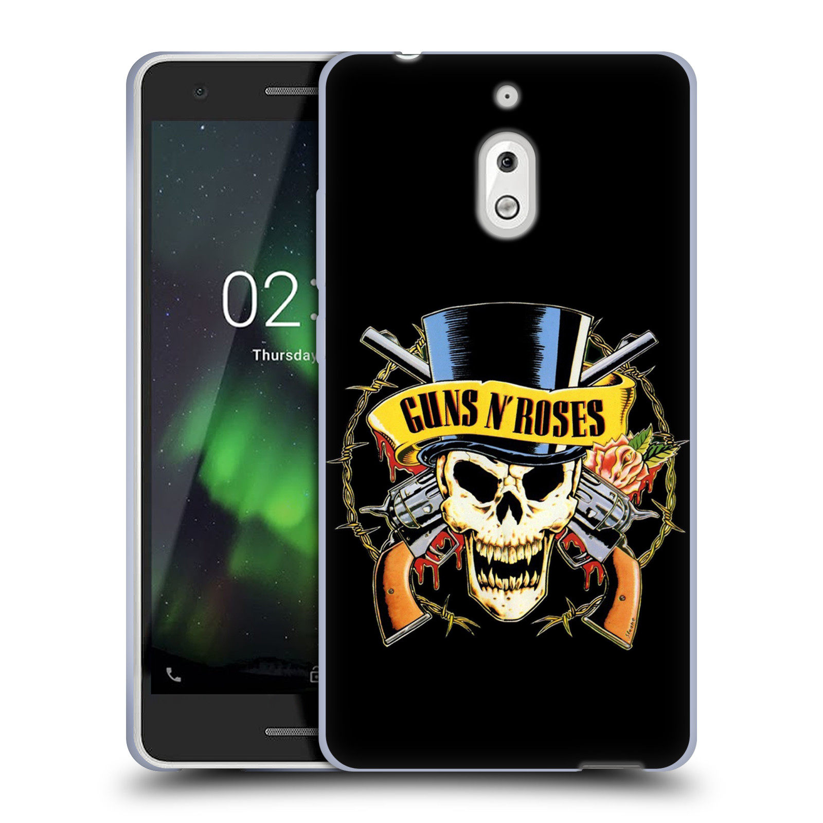 Silikonové pouzdro na mobil Nokia 2.1 - Head Case - Guns N' Roses - Lebka