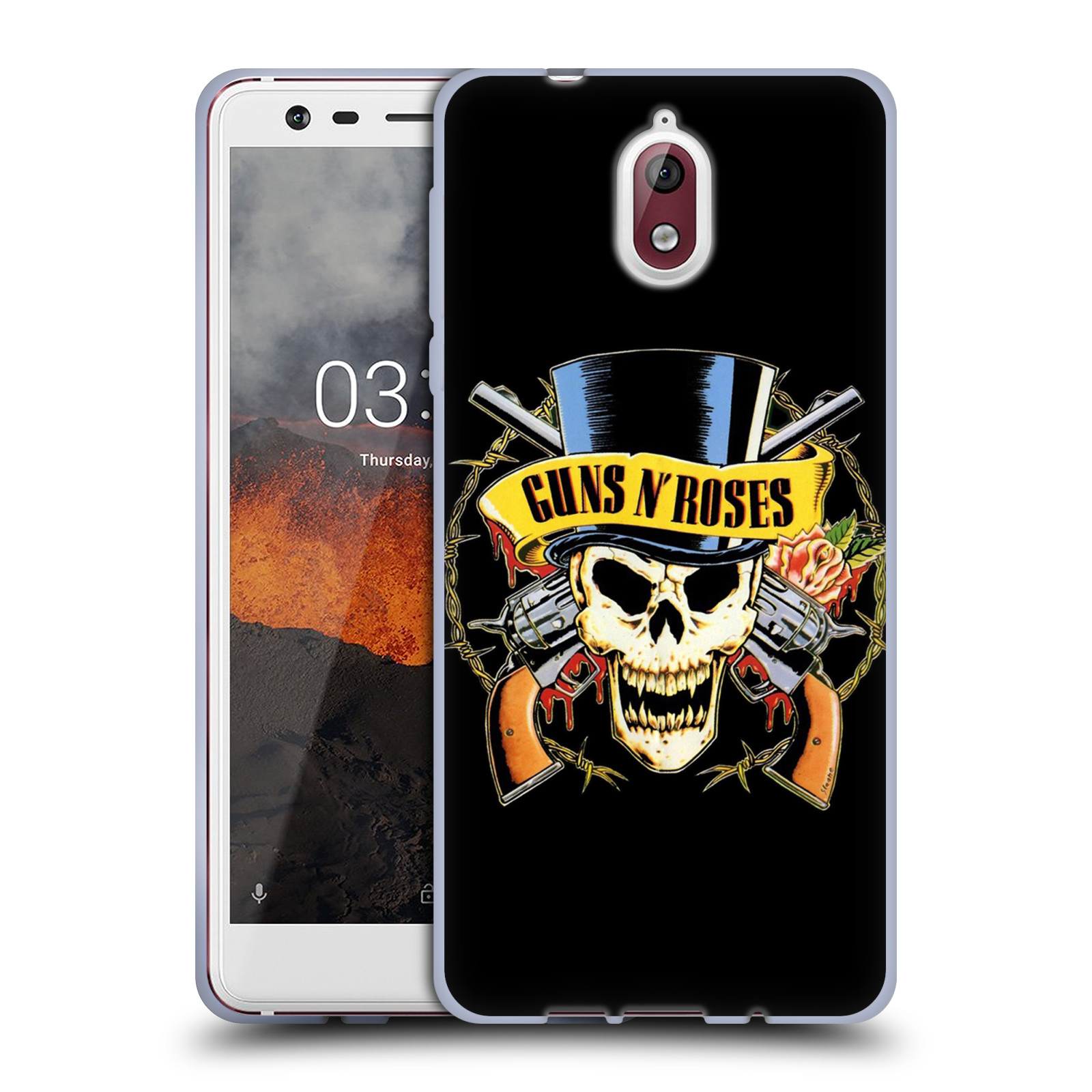 Silikonové pouzdro na mobil Nokia 3.1 - Head Case - Guns N' Roses - Lebka