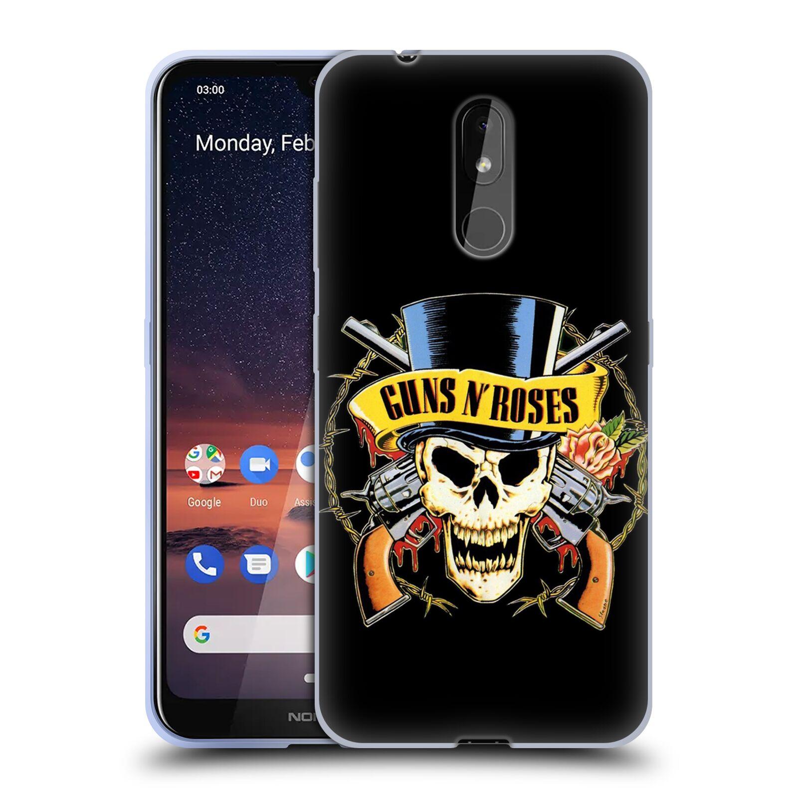 Silikonové pouzdro na mobil Nokia 3.2 - Head Case - Guns N' Roses - Lebka