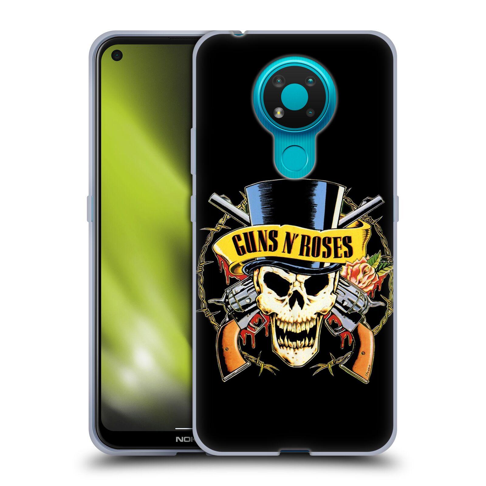Silikonové pouzdro na mobil Nokia 3.4 - Head Case - Guns N' Roses - Lebka