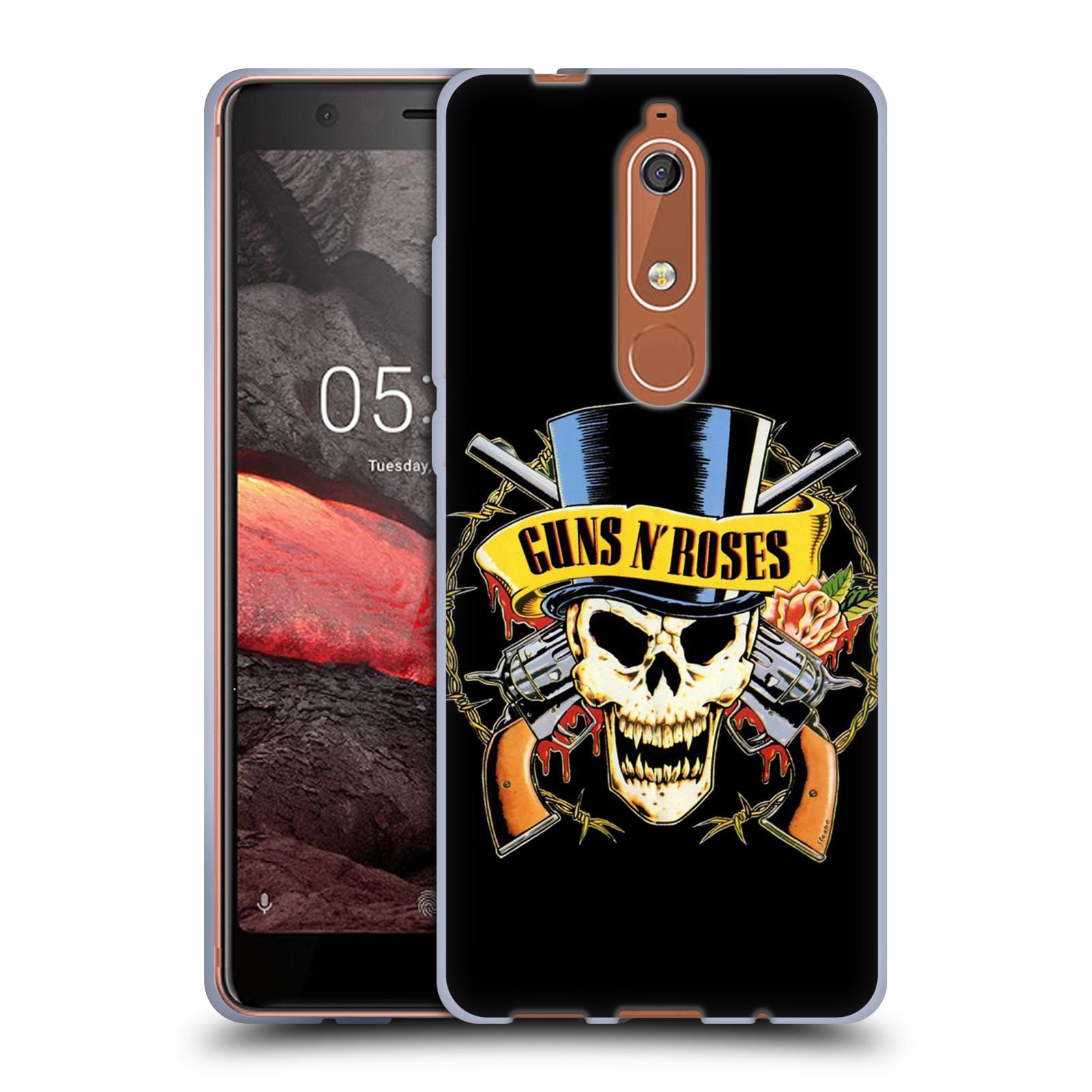 d8d074fc6 Silikonové pouzdro na mobil Nokia 5.1 - Head Case - Guns N' Roses - Lebka