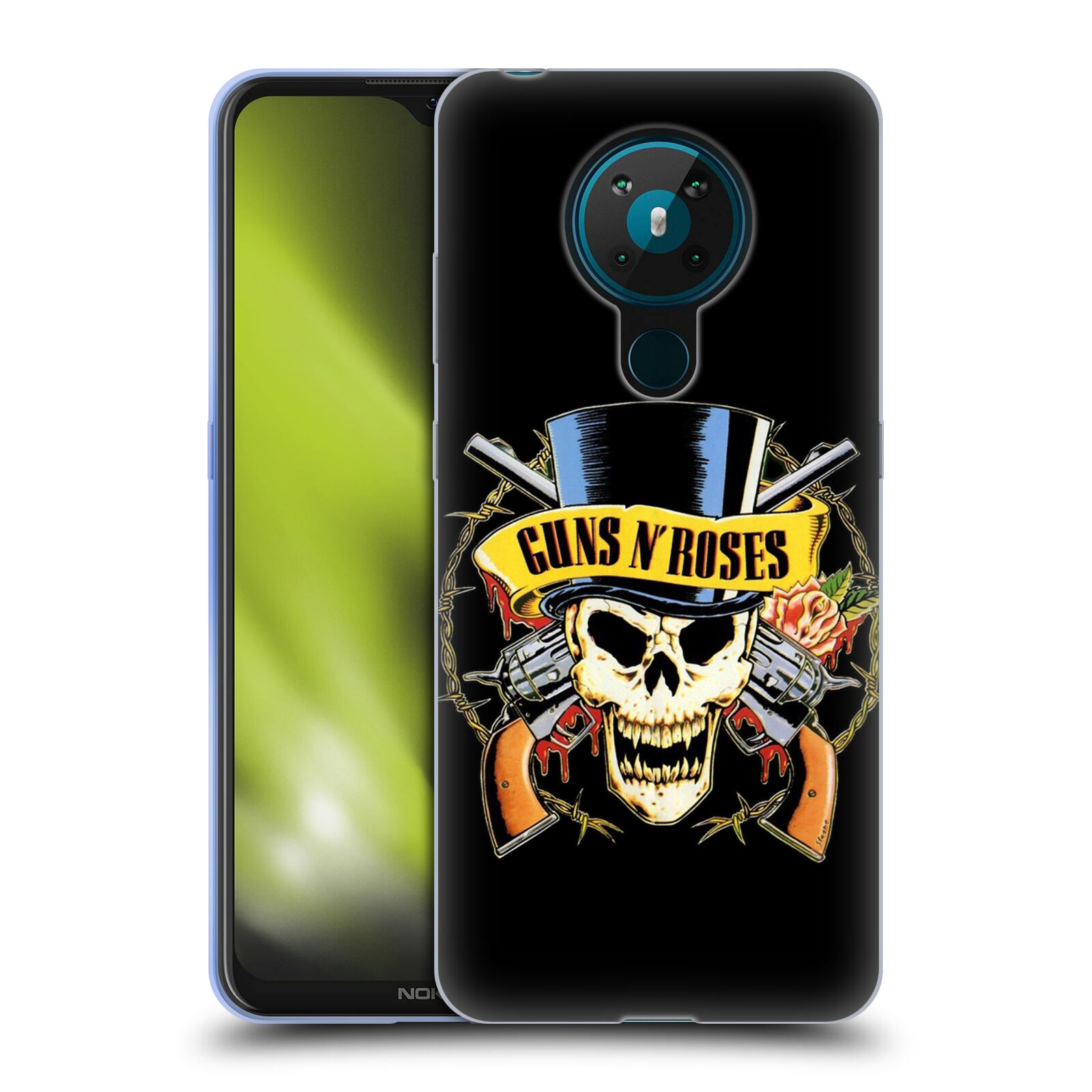 Silikonové pouzdro na mobil Nokia 5.3 - Head Case - Guns N' Roses - Lebka