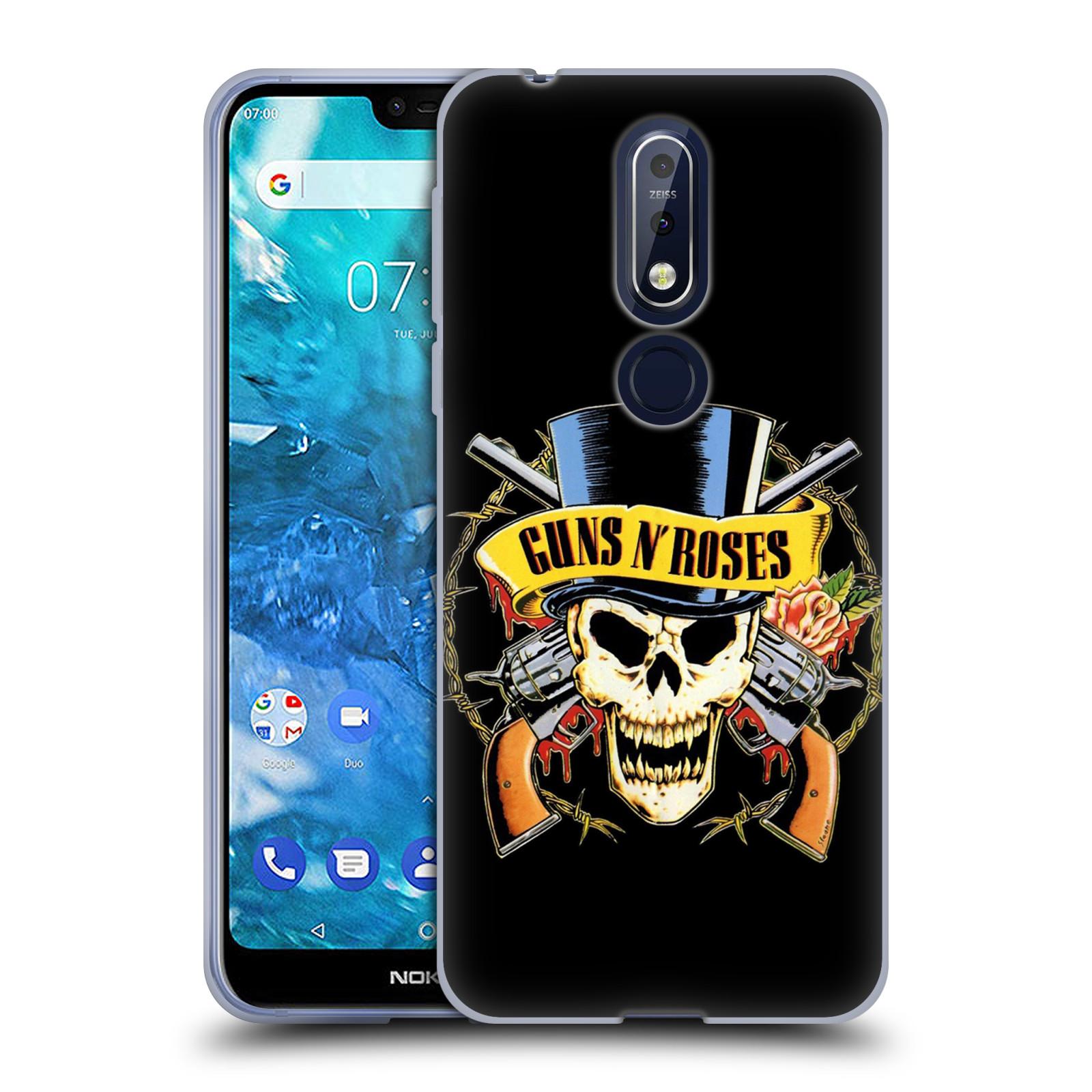Silikonové pouzdro na mobil Nokia 7.1 - Head Case - Guns N' Roses - Lebka