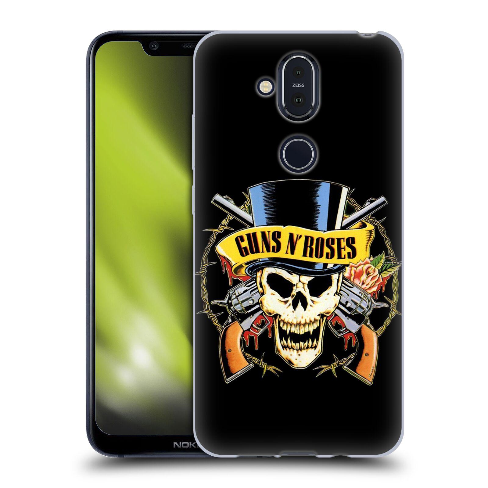 Silikonové pouzdro na mobil Nokia 8.1 - Head Case - Guns N' Roses - Lebka