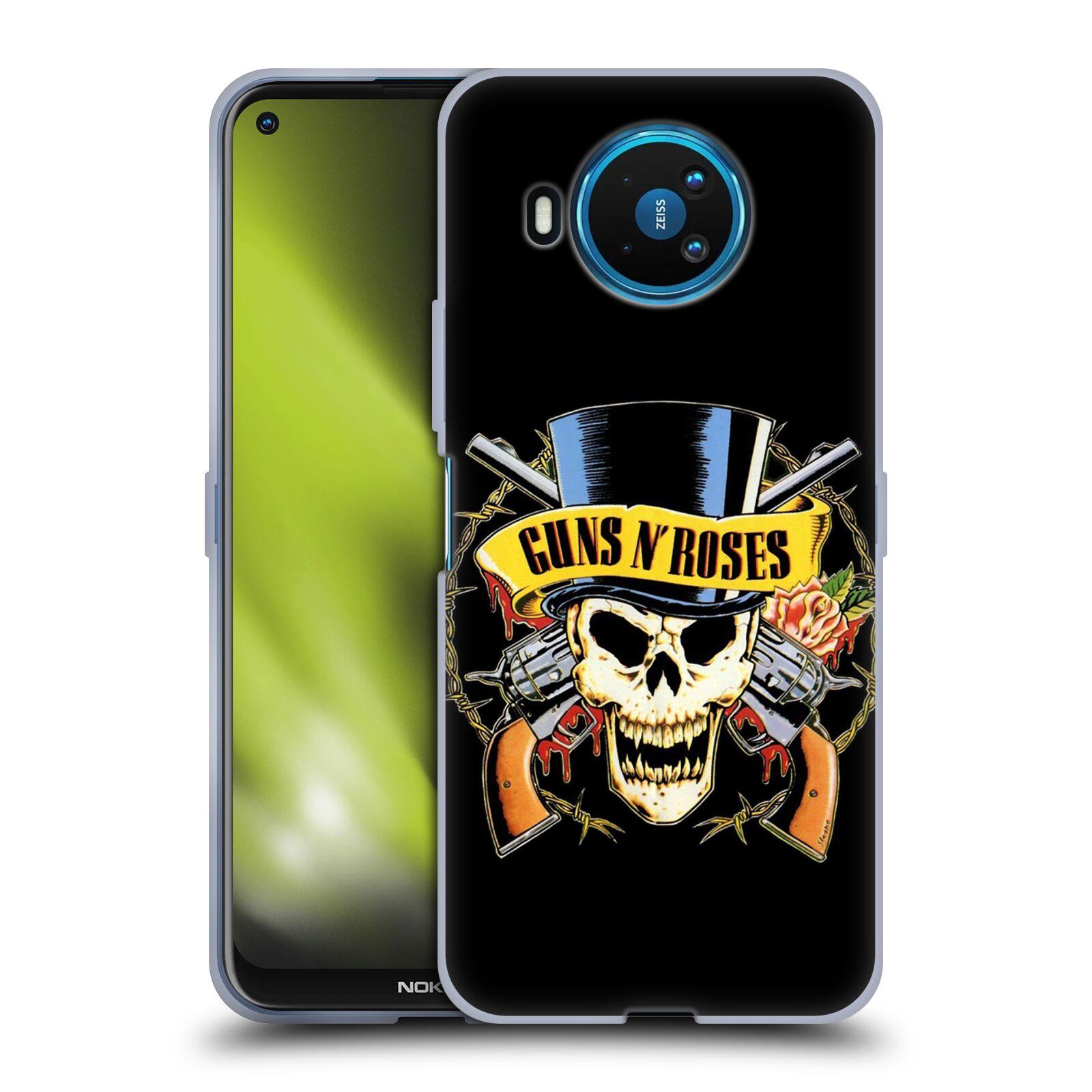Silikonové pouzdro na mobil Nokia 8.3 5G - Head Case - Guns N' Roses - Lebka