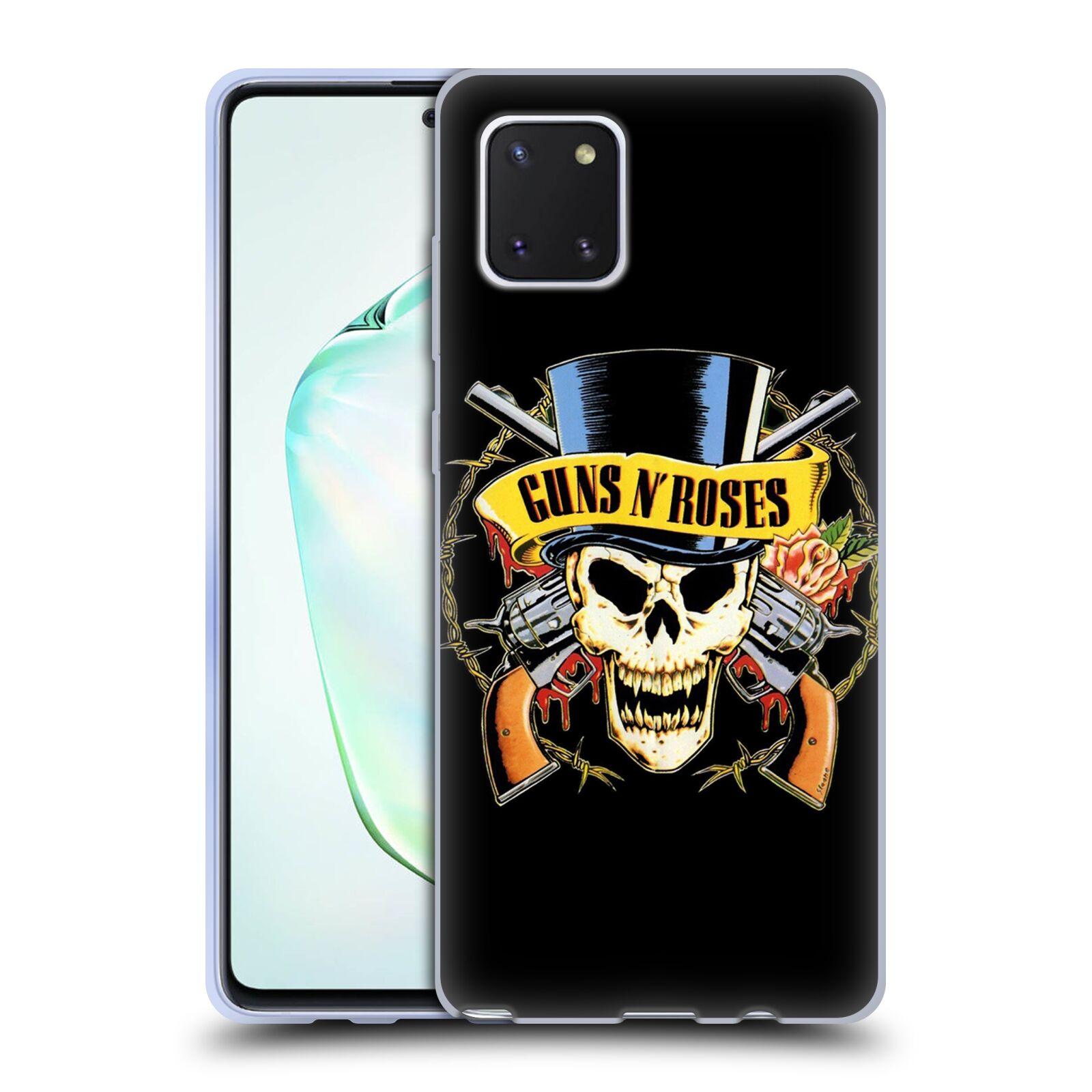 Silikonové pouzdro na mobil Samsung Galaxy Note 10 Lite - Head Case - Guns N' Roses - Lebka
